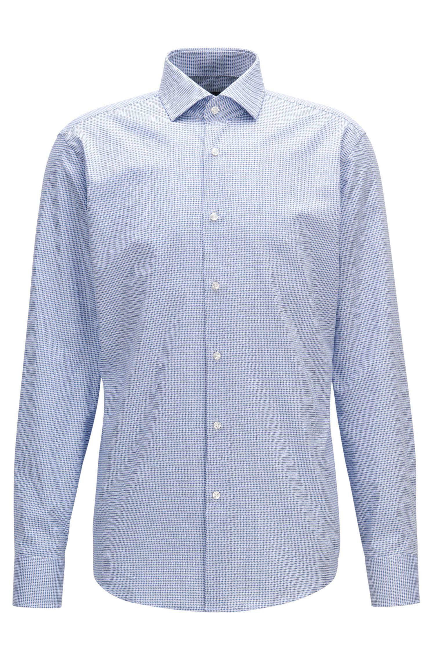 Geometric Check Cotton Dress Shirt, Regular Fit | Gordon