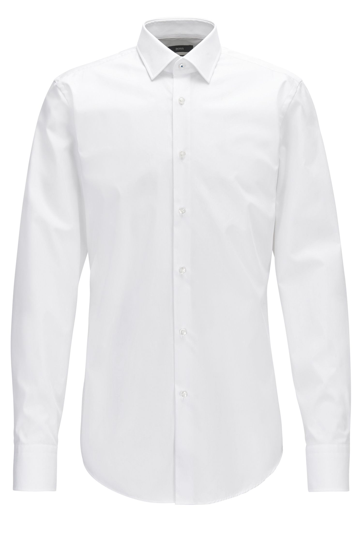 Easy-Iron Cotton Dress Shirt, Slim Fit | Jerris, White