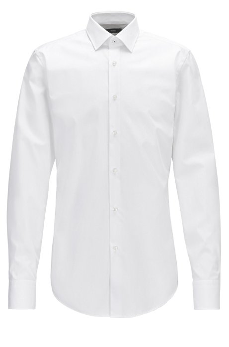a7b18978d BOSS - Easy-Iron Cotton Dress Shirt, Slim Fit | Jerris