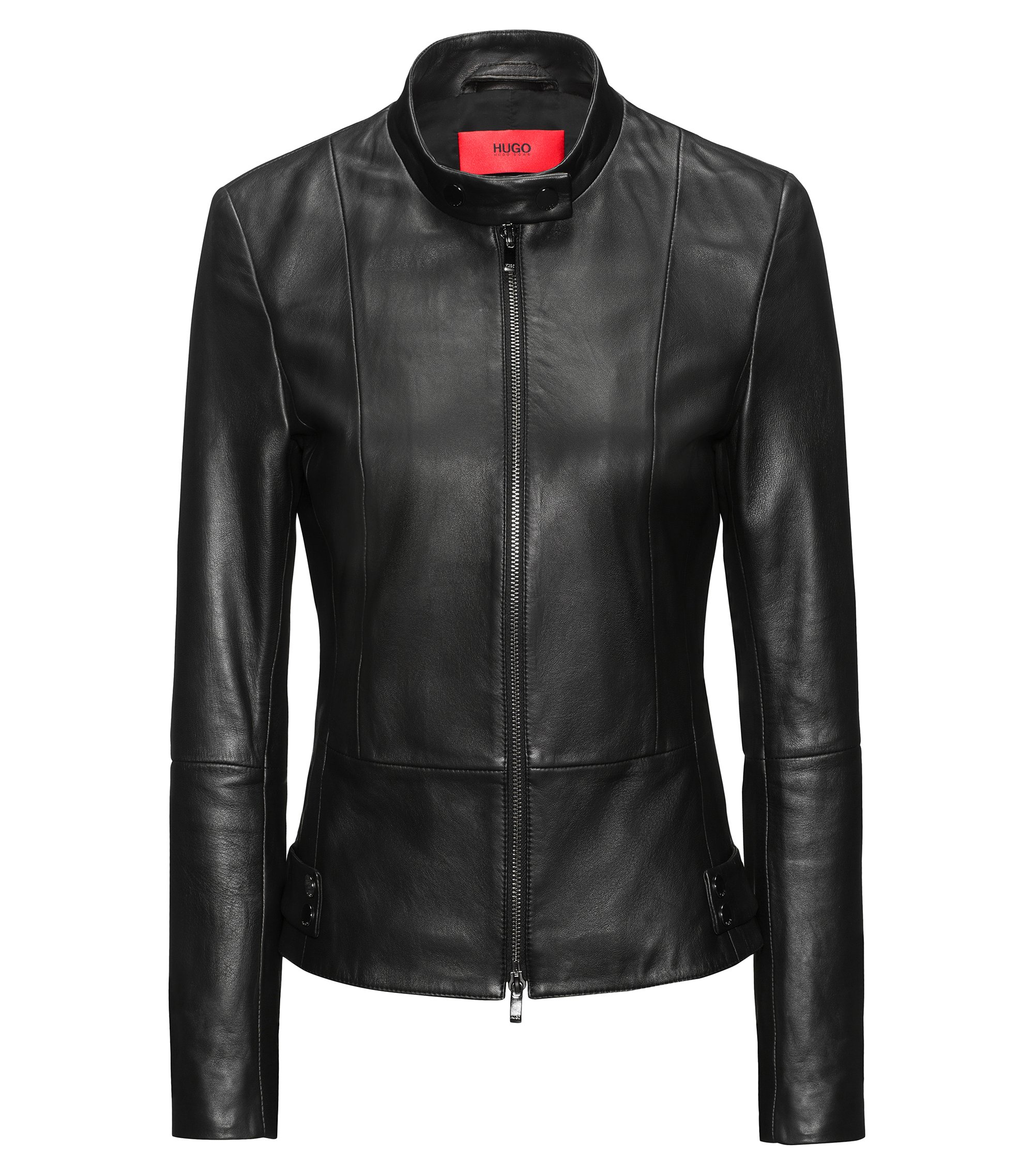 Lambskin Leather Jacket | Ligela, Black