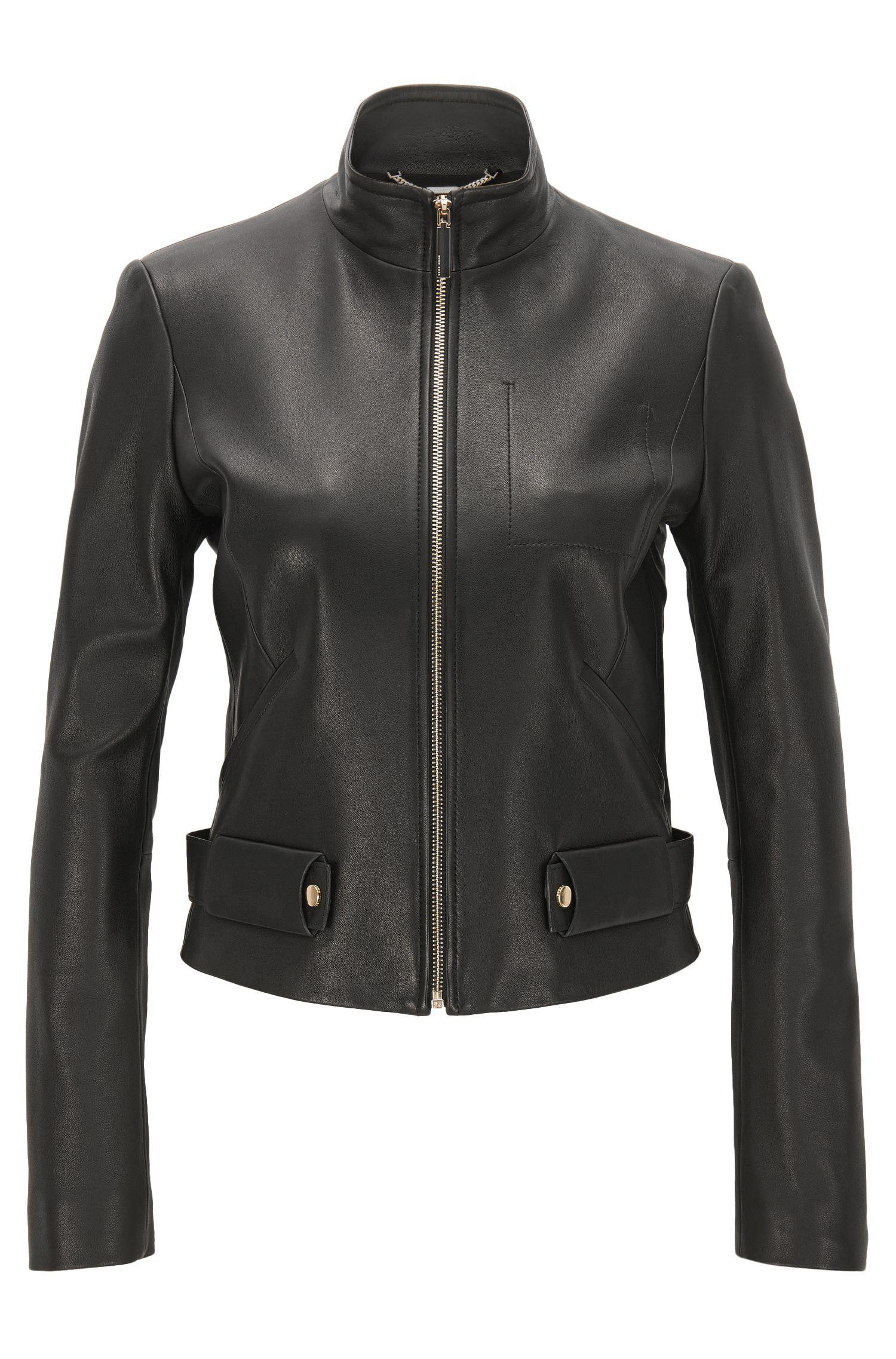 Lambskin Leather Jacket | Sanuvo
