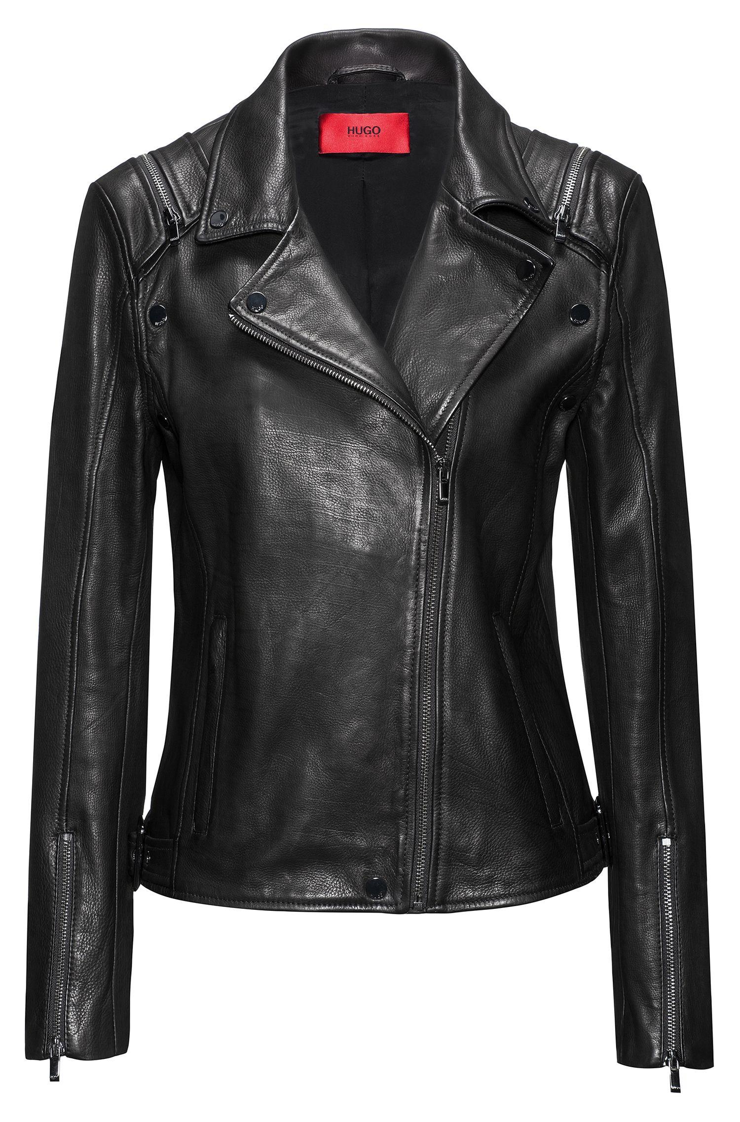 Leather Moto Jacket | Levana