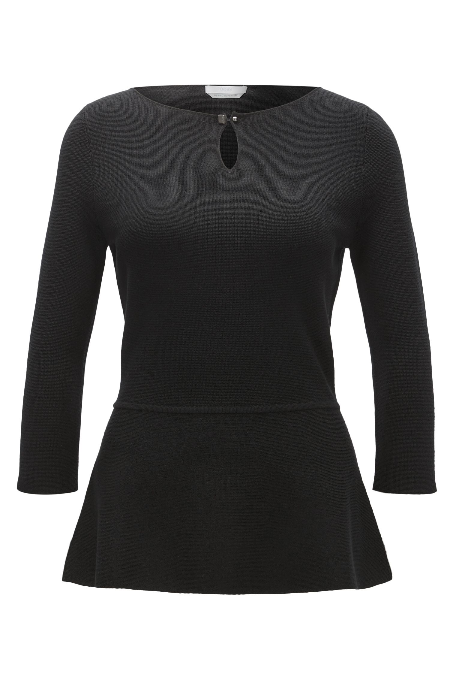 Superfine Merino Wool Peplum Top | Fylle