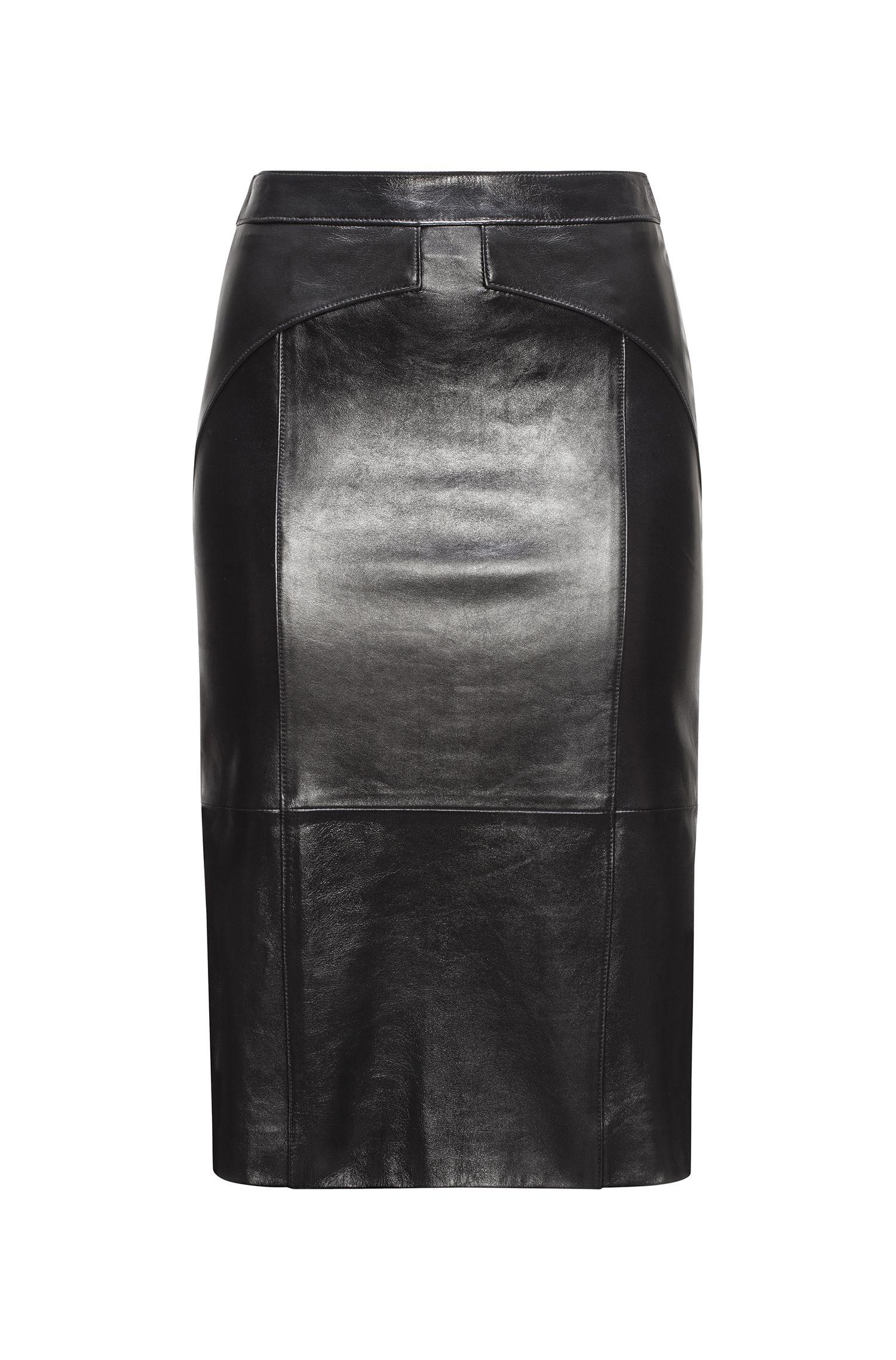 Leather Pencil Skirt | Limoni, Black