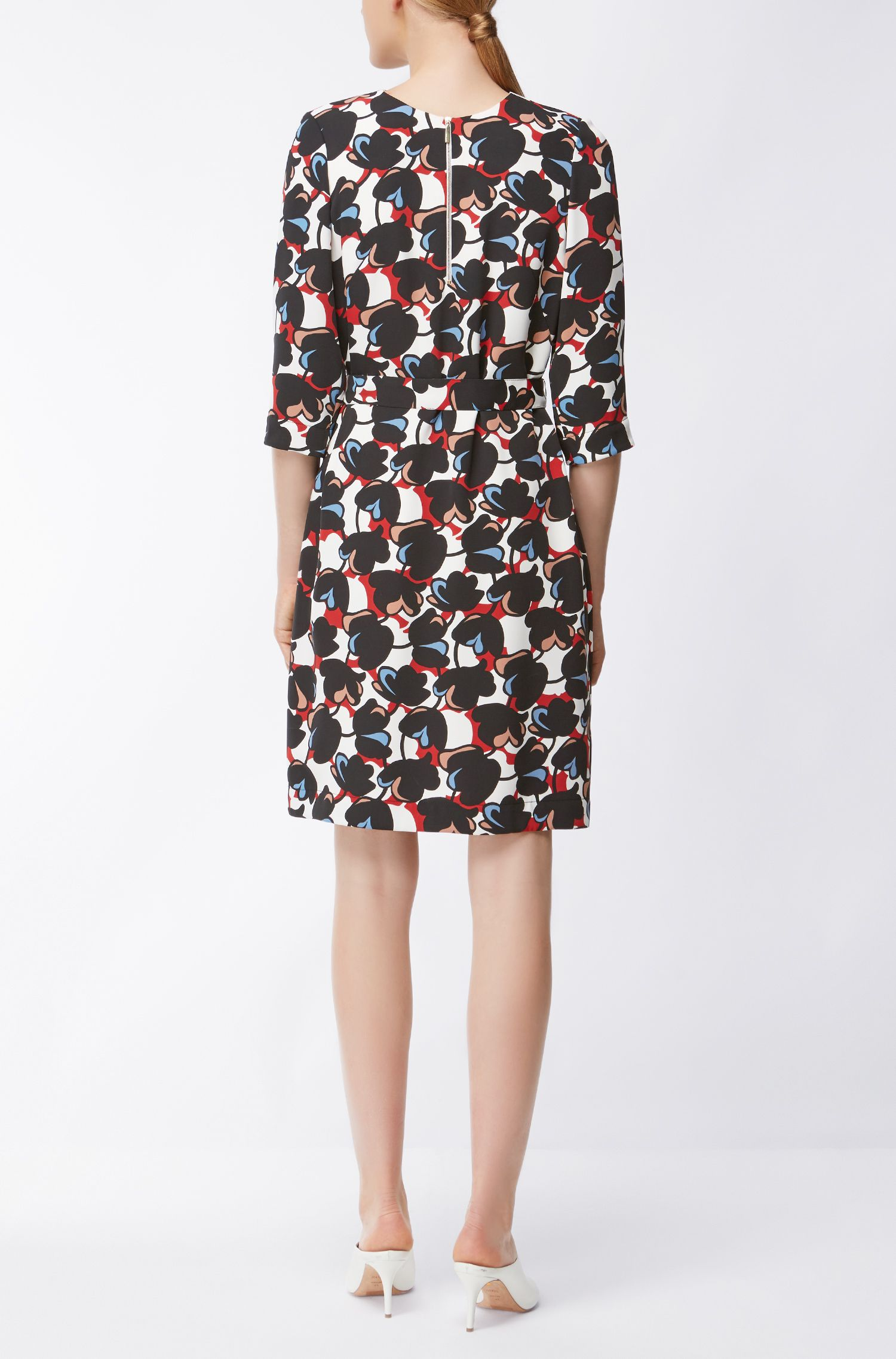 Hugo Boss Floral-Print Dress Dilamy 6 Patterned BOSS