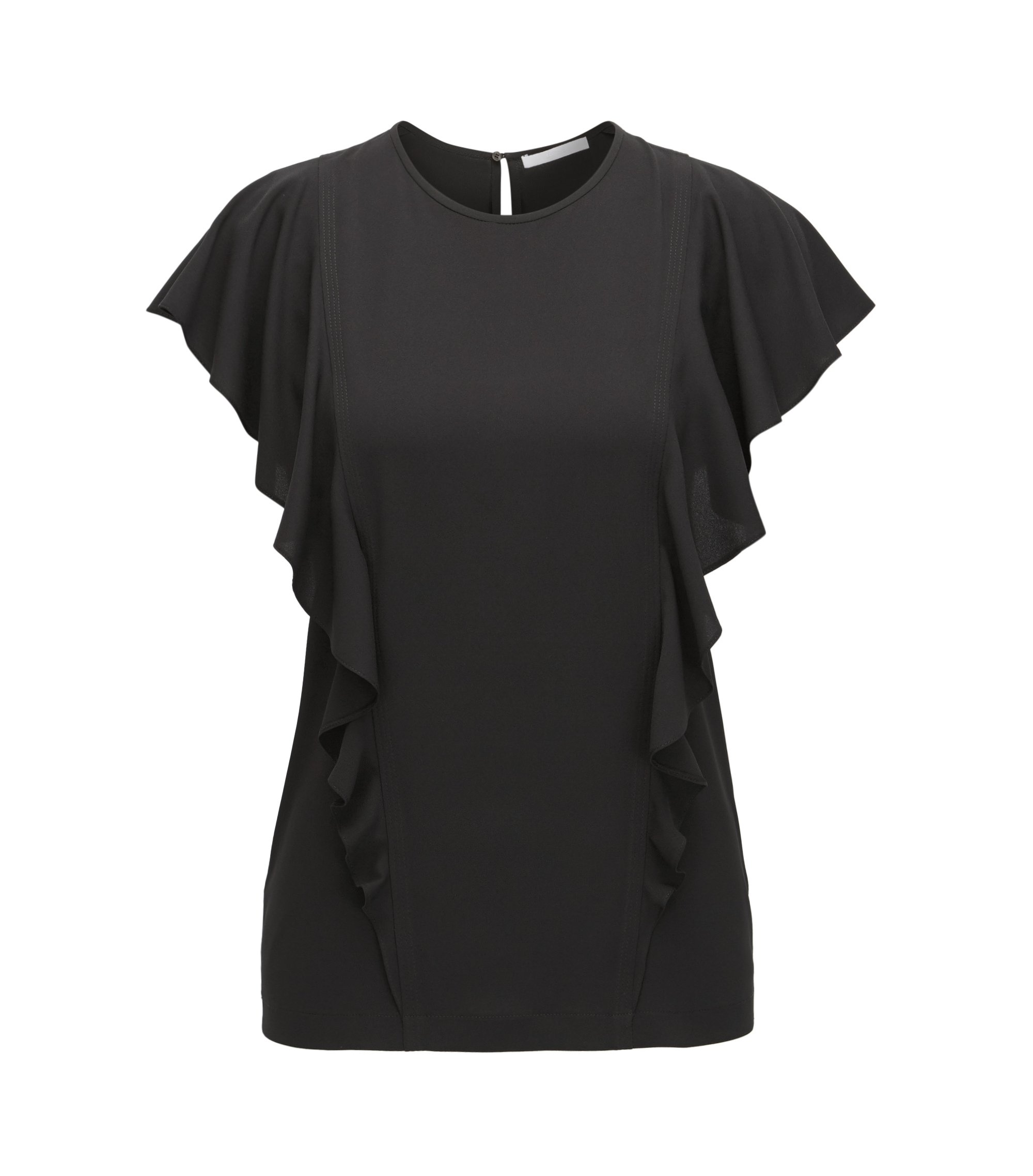 Ruffled Top | Ipapilia, Black