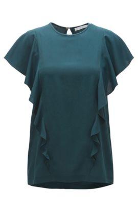 Ruffled Top | Ipapilia, Dark Green