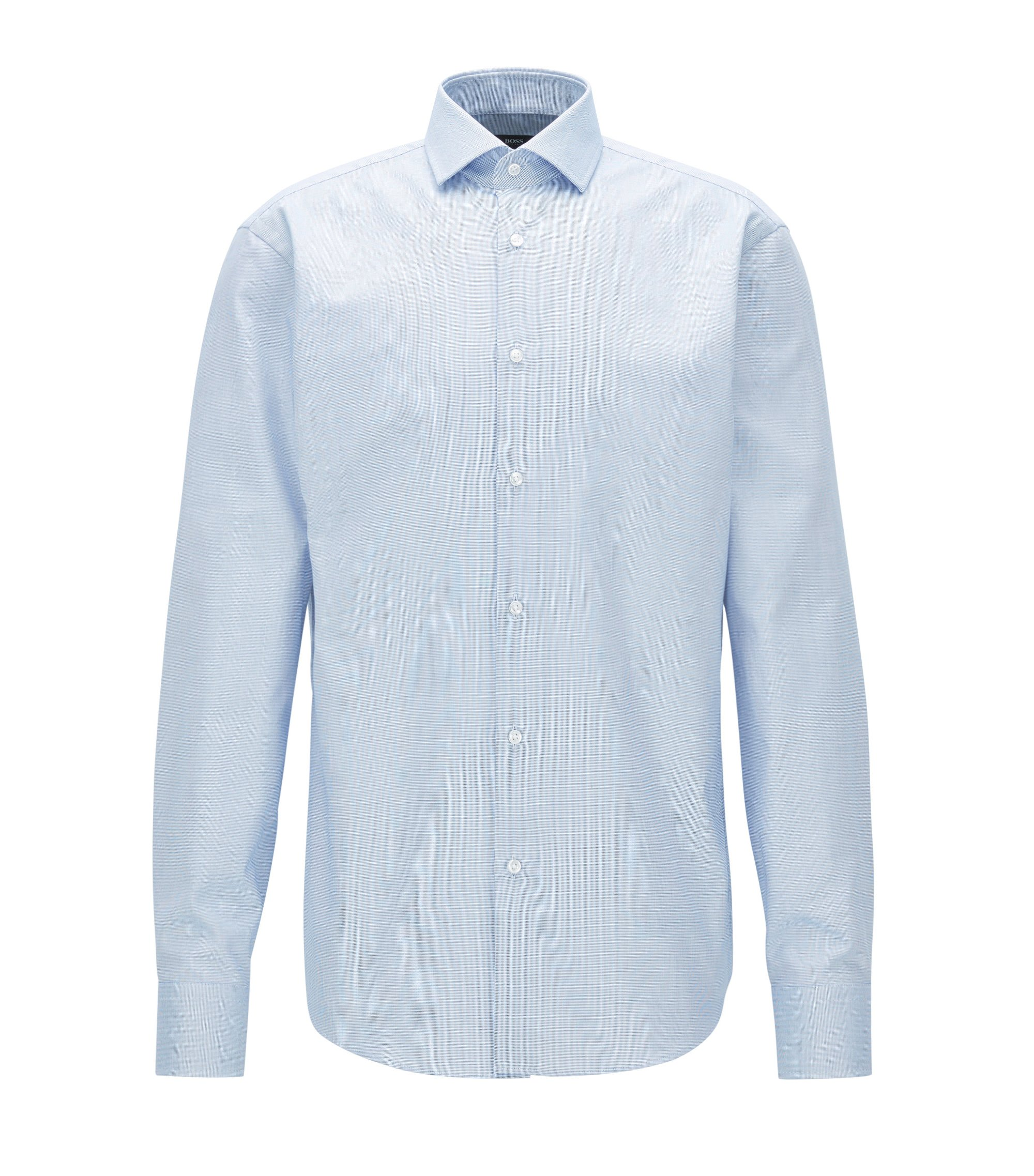 Fresh Active Nailhead Cotton Dress Shirt, Regular Fit | Gordon, Blue
