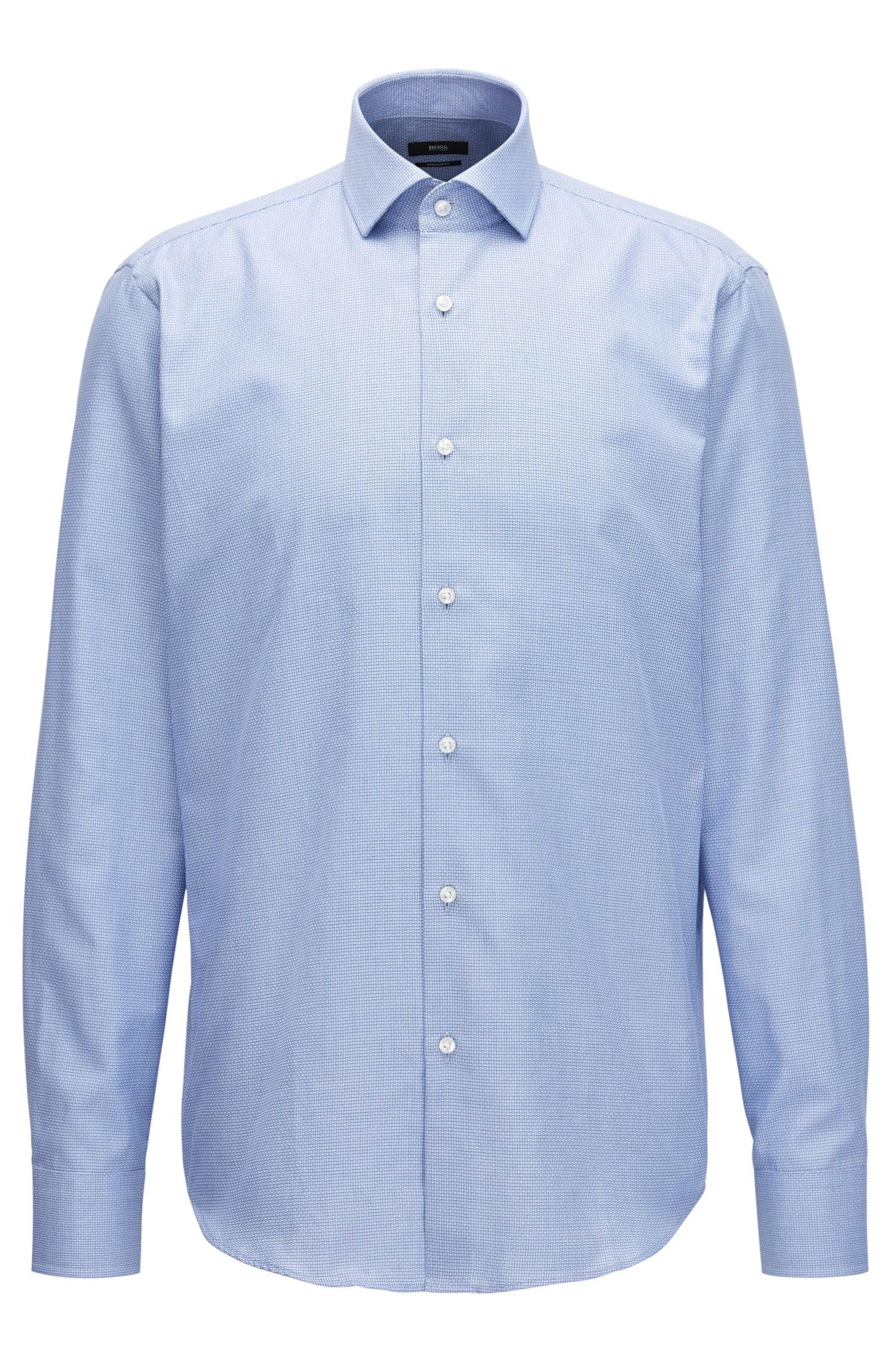Textured Cotton Dress Shirt, Regular Fit | Gordon