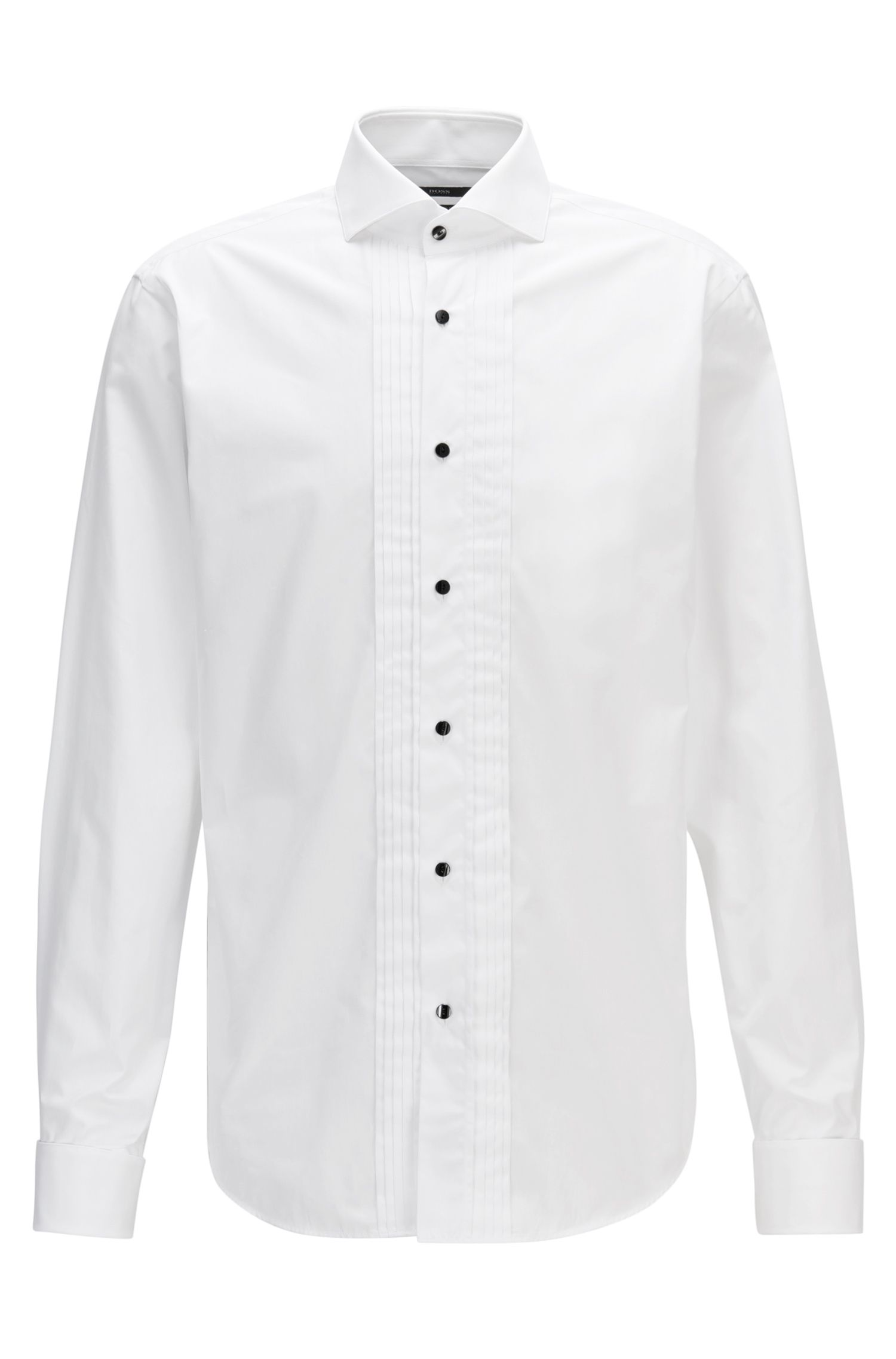 Pleated Cotton Dress Shirt, Regular Fit | George