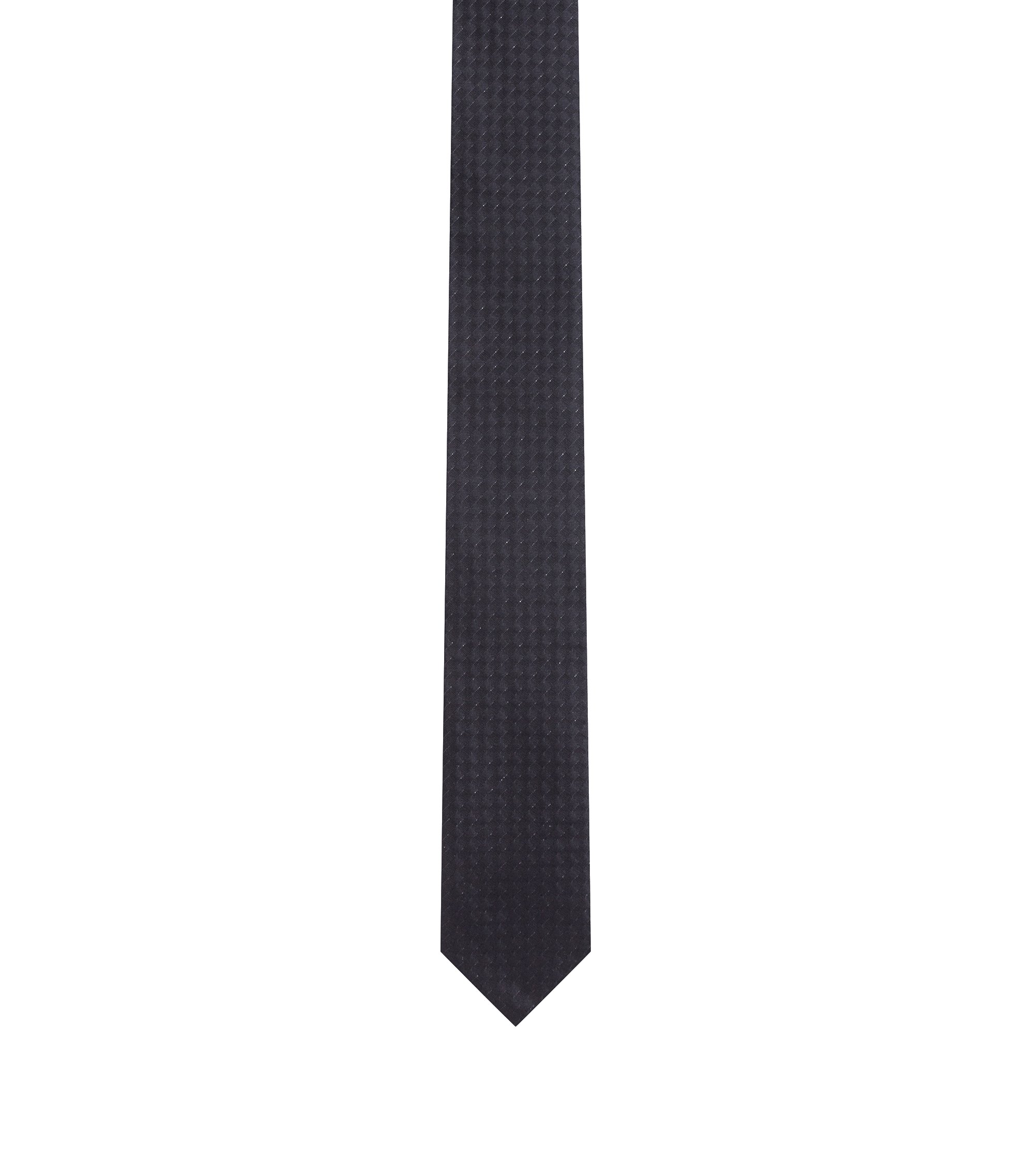 Stretch Silk Slim Tie, Black