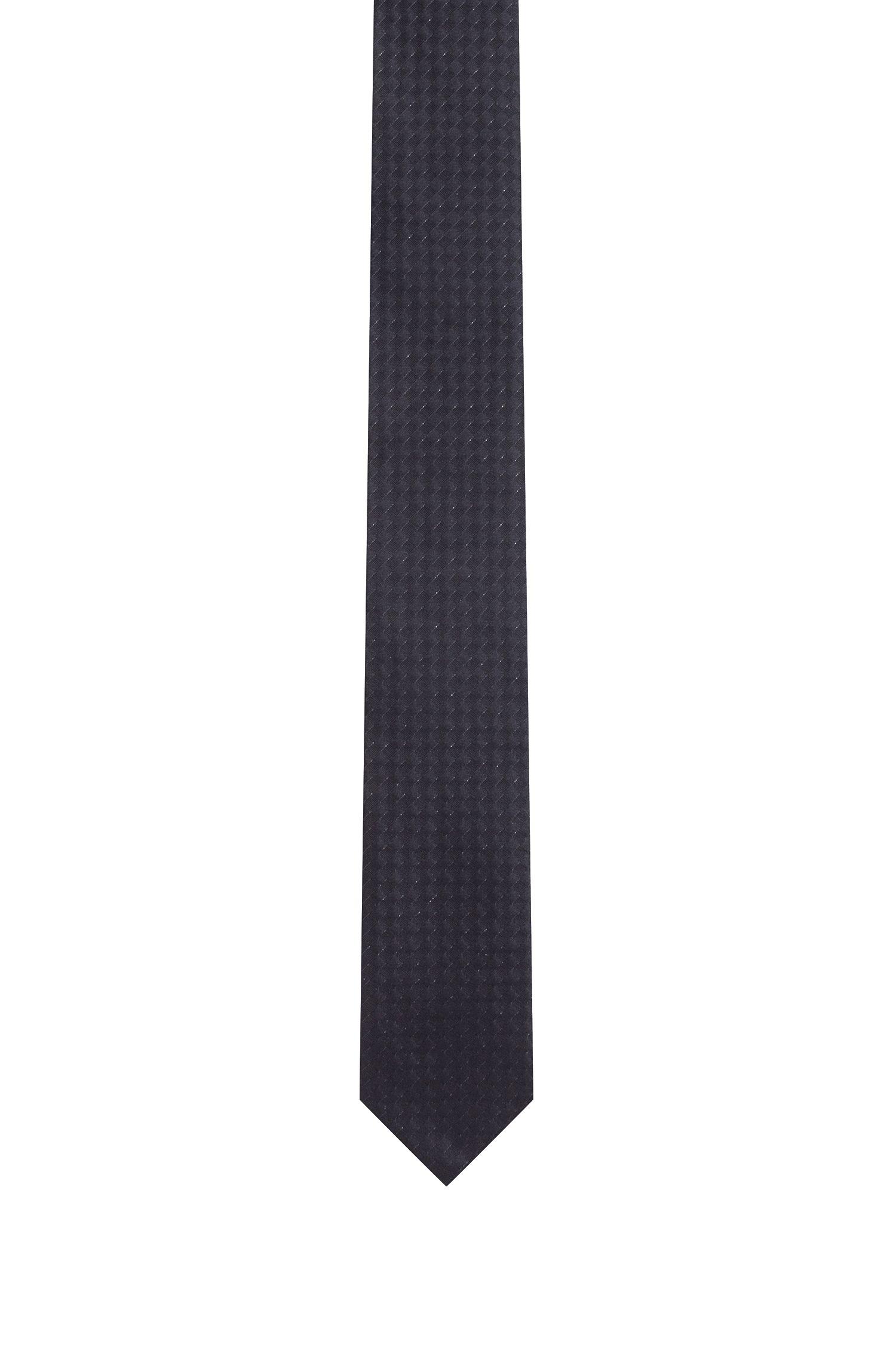 Stretch Silk Slim Tie, Black