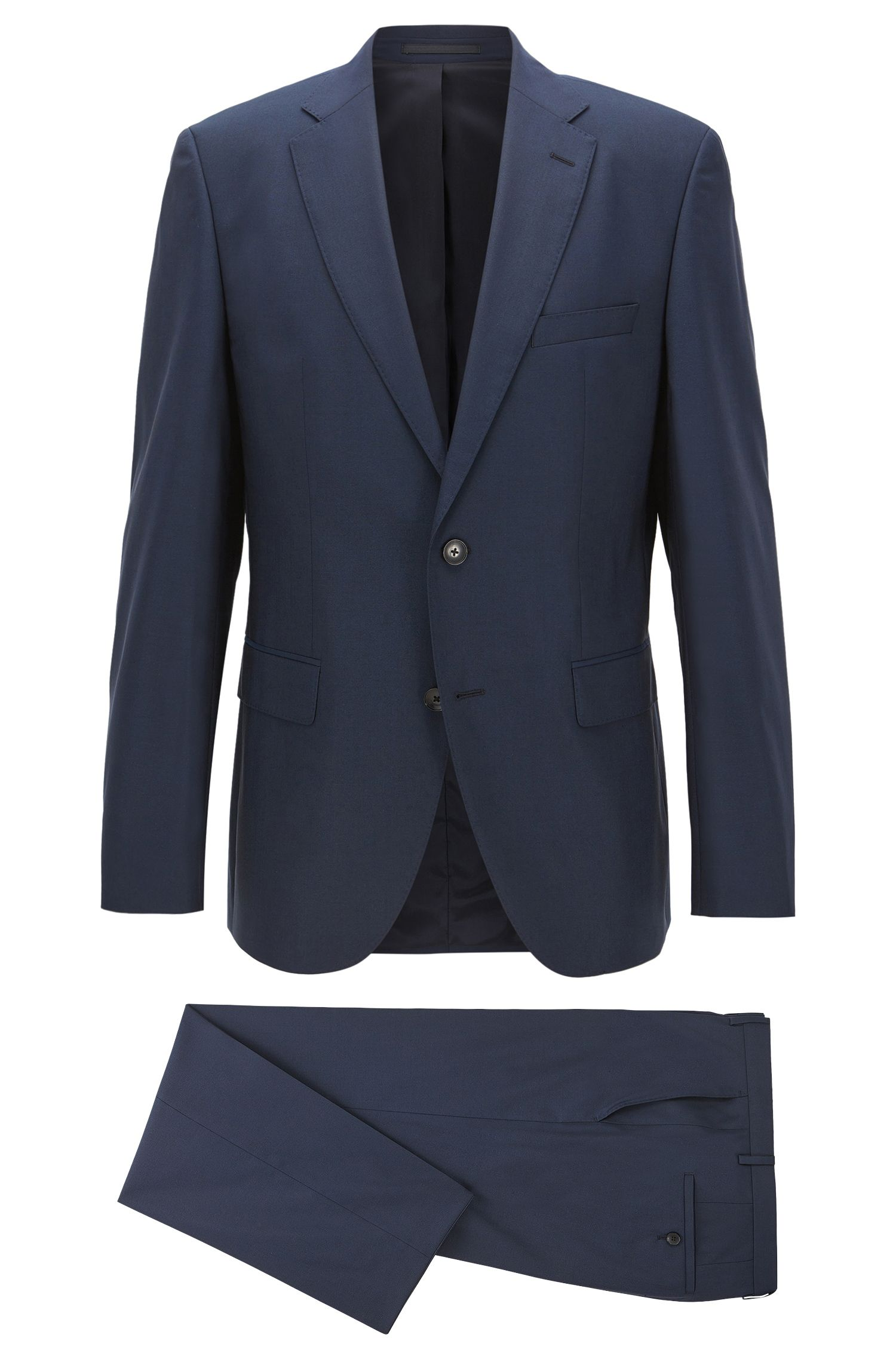 Stretch Virgin Wool Suit, Regular Fit | Johnstons/Lenon