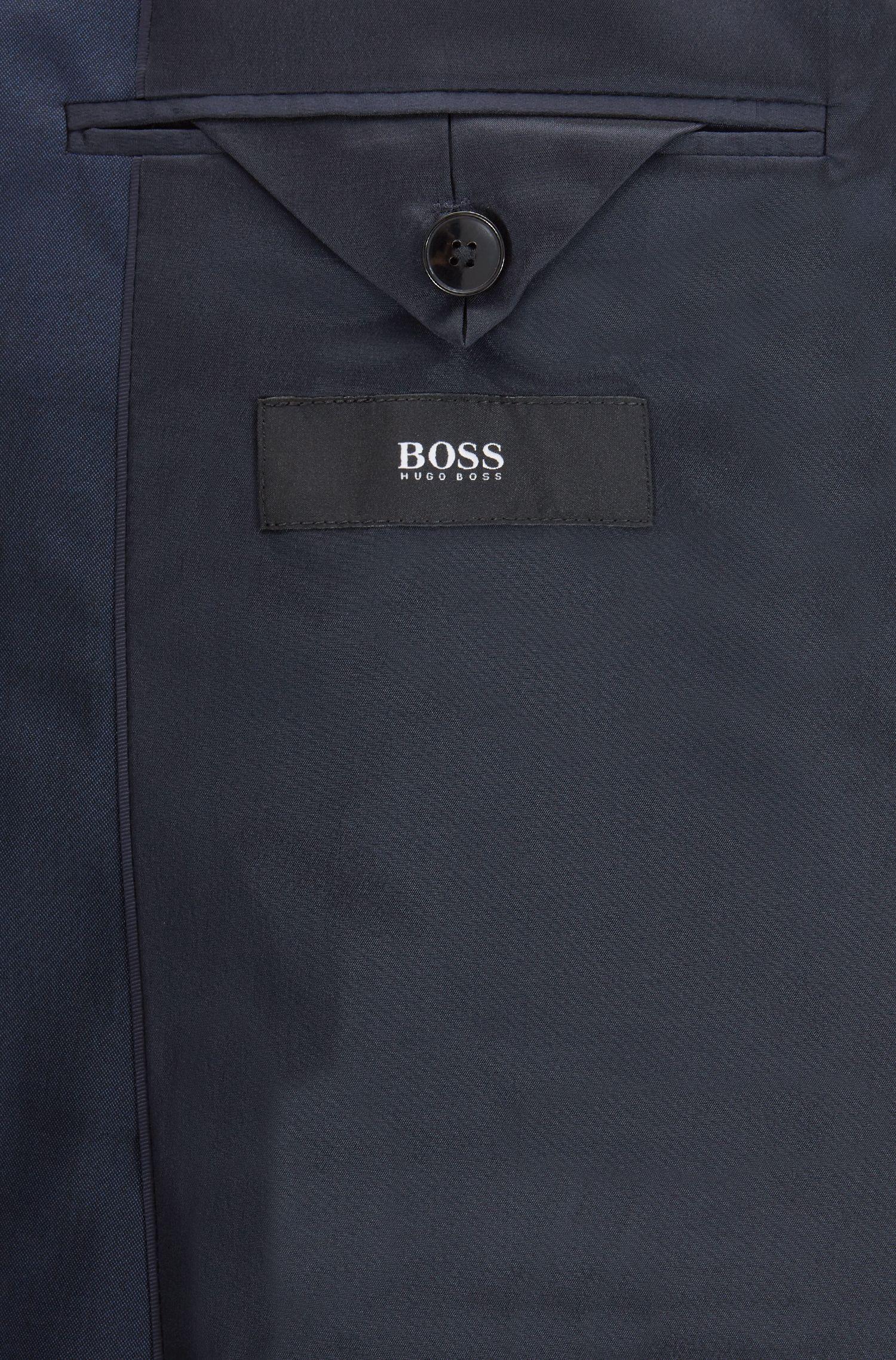 Stretch Virgin Wool Suit, Regular Fit | Johnstons/Lenon, Dark Blue