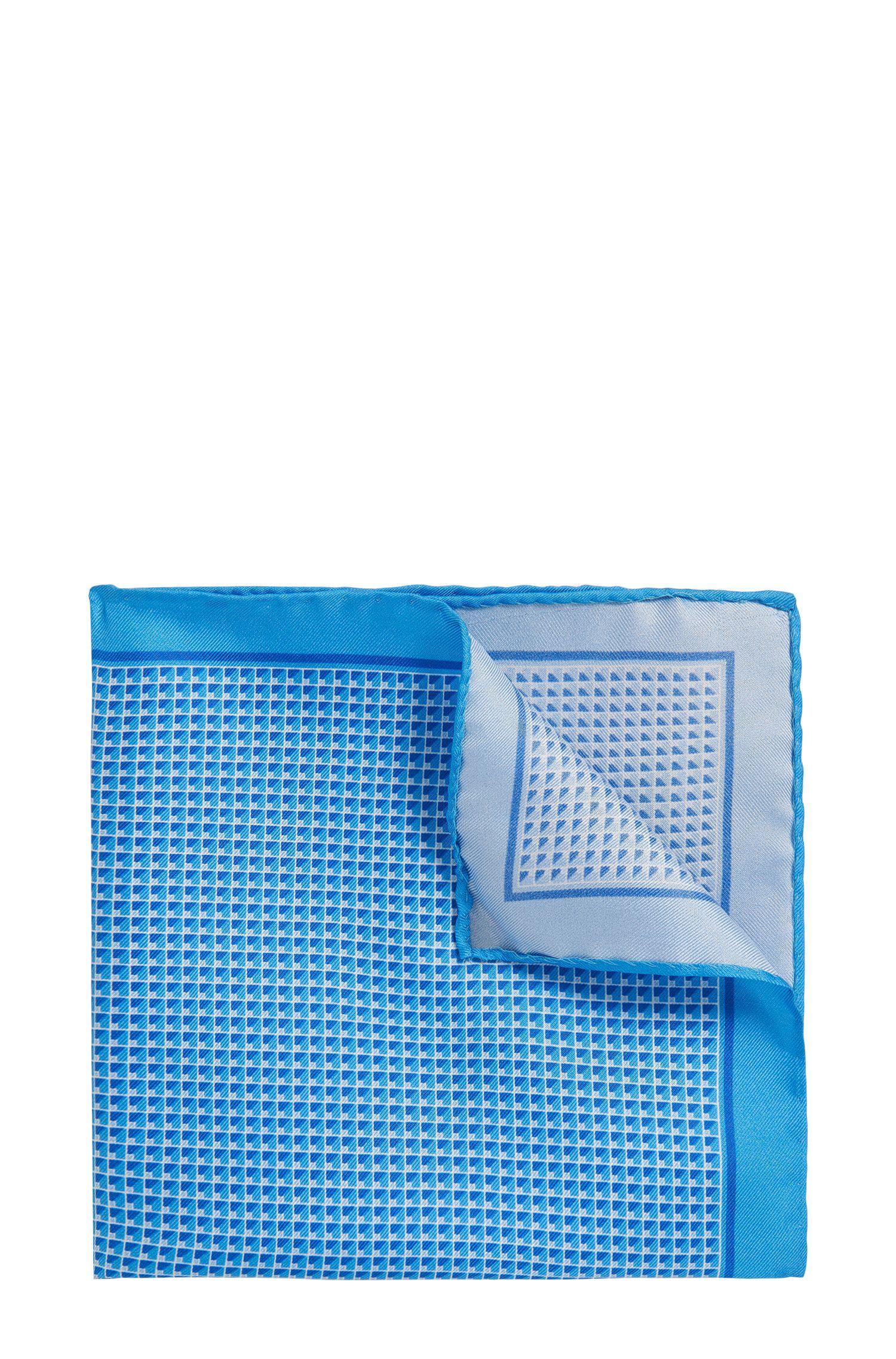 Patterned Italian Silk Twill Pocket Square