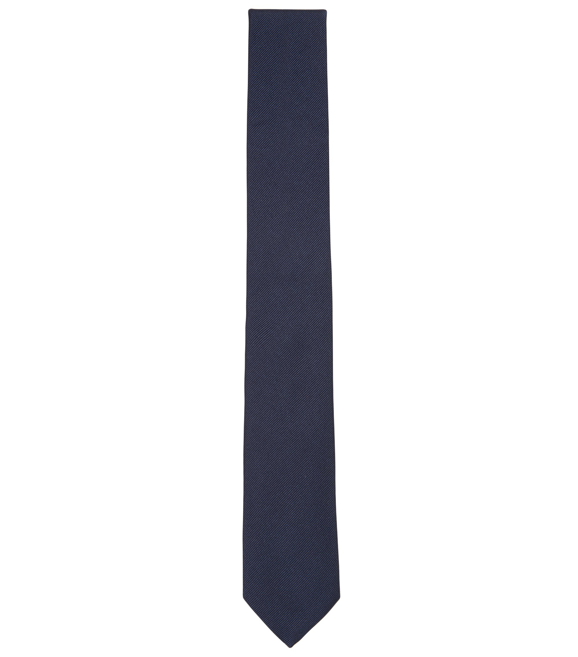 BOSS Tailored Italian Silk Twill Slim Tie, Dark Blue