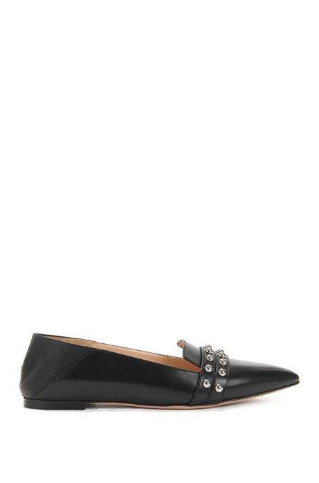 77f72f37 HUGO - Studded Leather Ballerina Flat | Shortditch Ballerina
