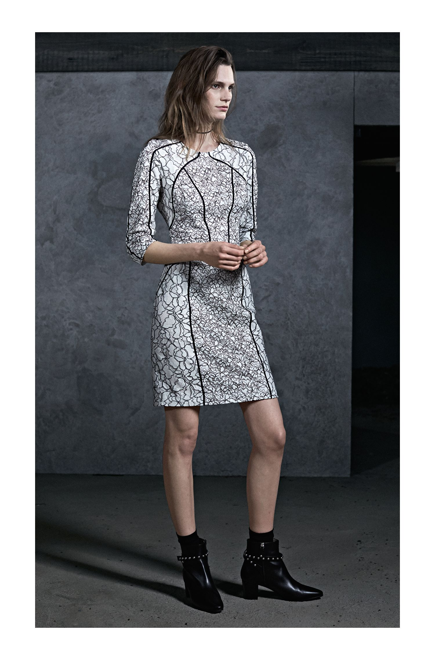 Patched Lace Dress | Karali, Patterned