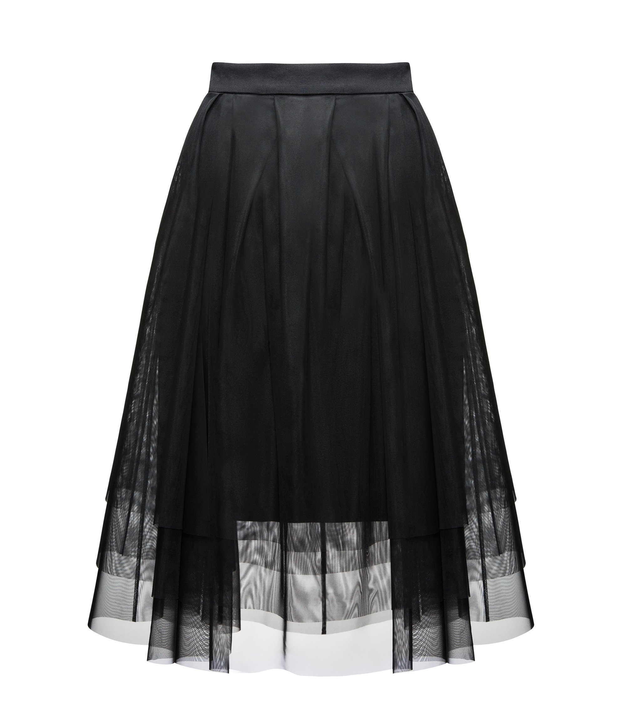Pleated Tulle Skirt | Roila, Black