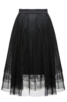 Pleated Tulle Skirt | Roila, Black