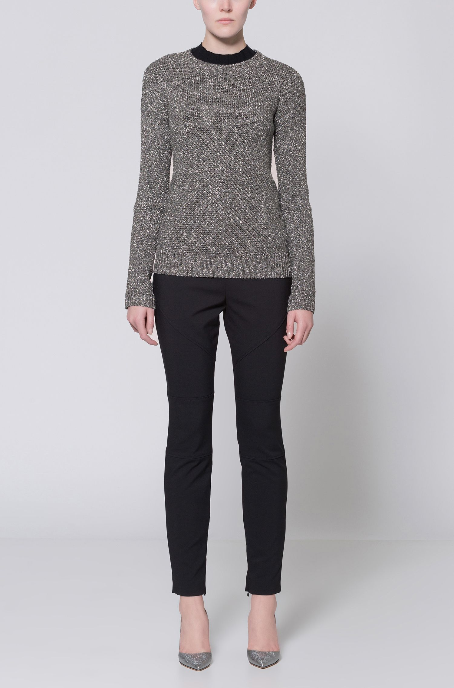 Honeycomb Knit Sweater | Sejena
