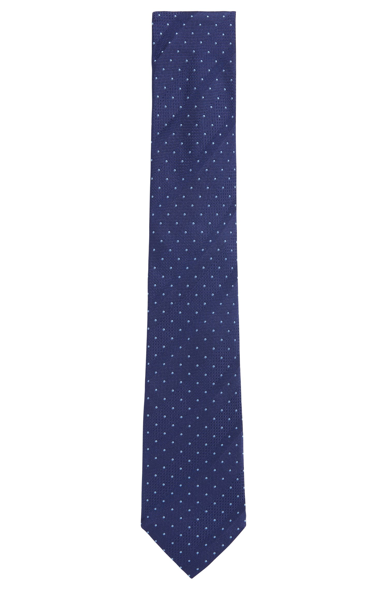 Tonal Striped & Dotted Italian Silk Tie