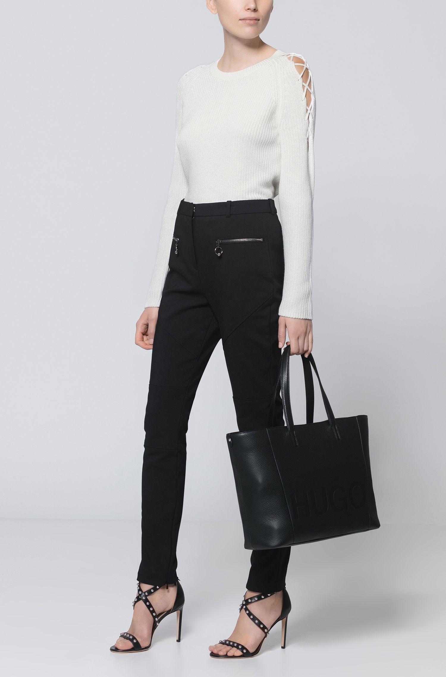 Embossed Leather Shopper Tote | Mayfair Shopper