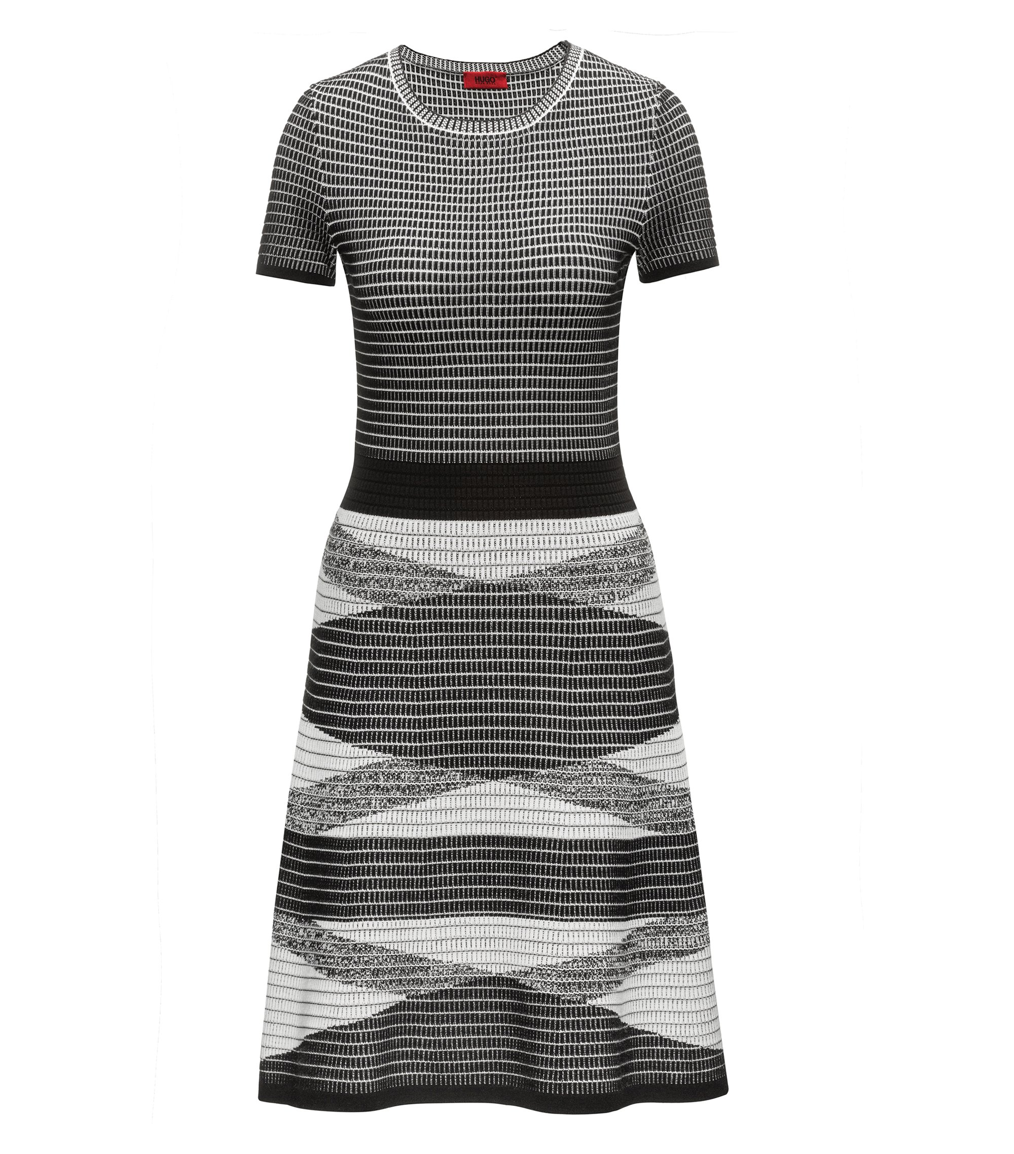 Knitted Waffle Dress | Siyanda, Patterned