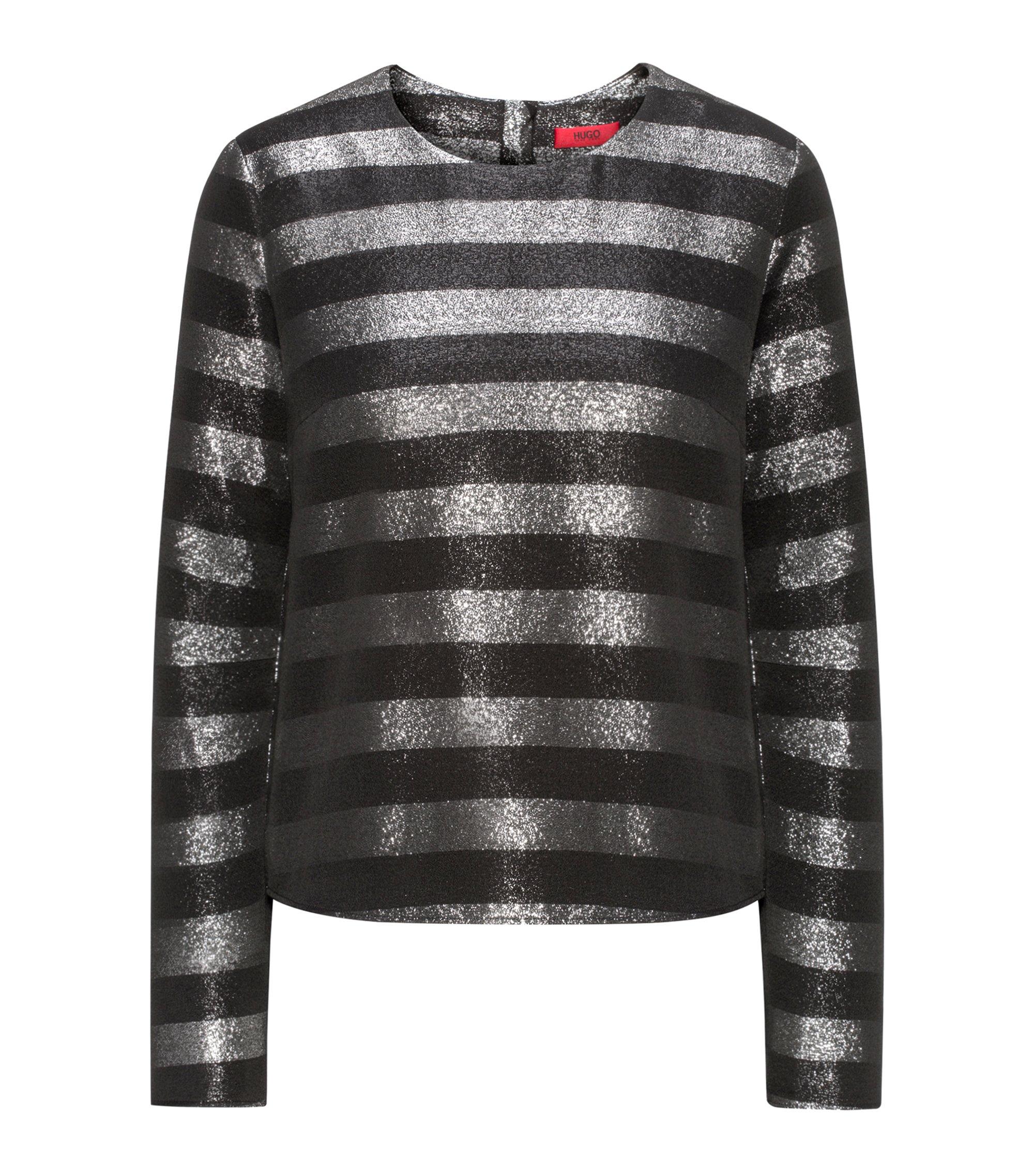 Striped Metallic Top | Chassi, Black