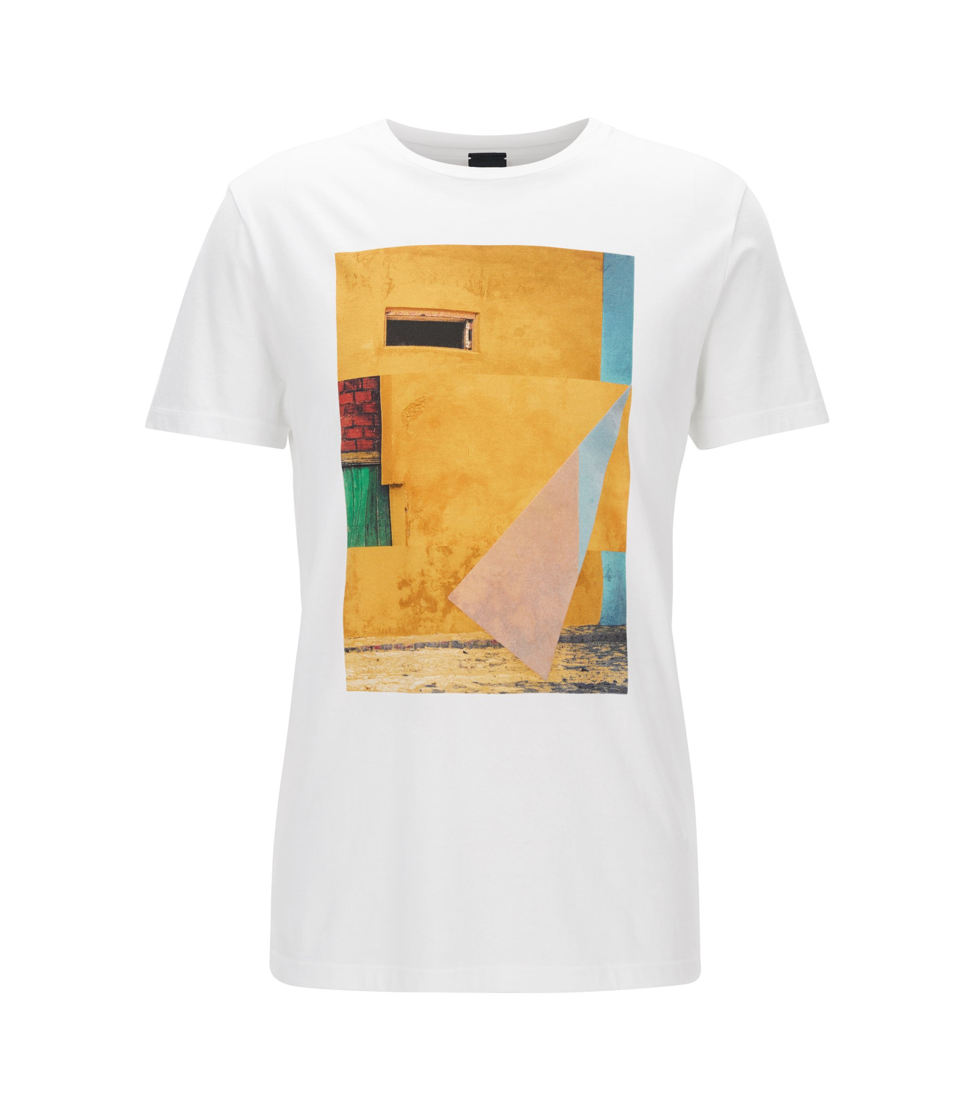 Cuba-Print Cotton Graphic T-Shirt | Turbulent, White