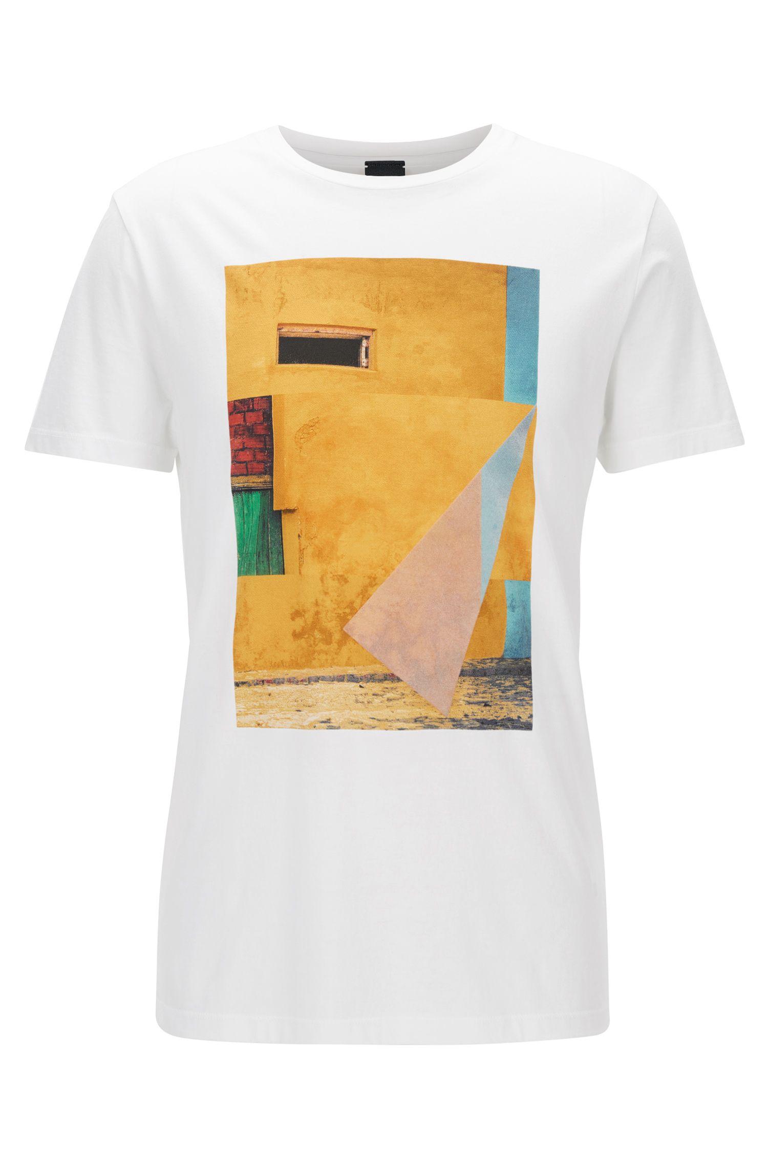 Cuba-Print Cotton Graphic T-Shirt | Turbulent