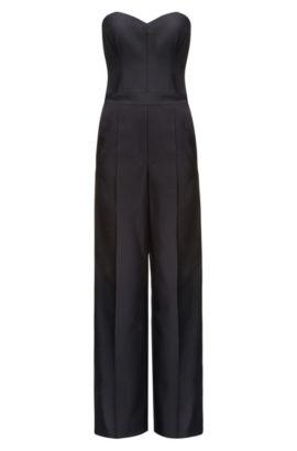 Cotton-Wool Jumpsuit | Kazia, Black