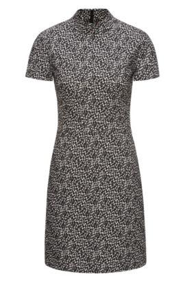 Patterned Dress | Kirsi, Black