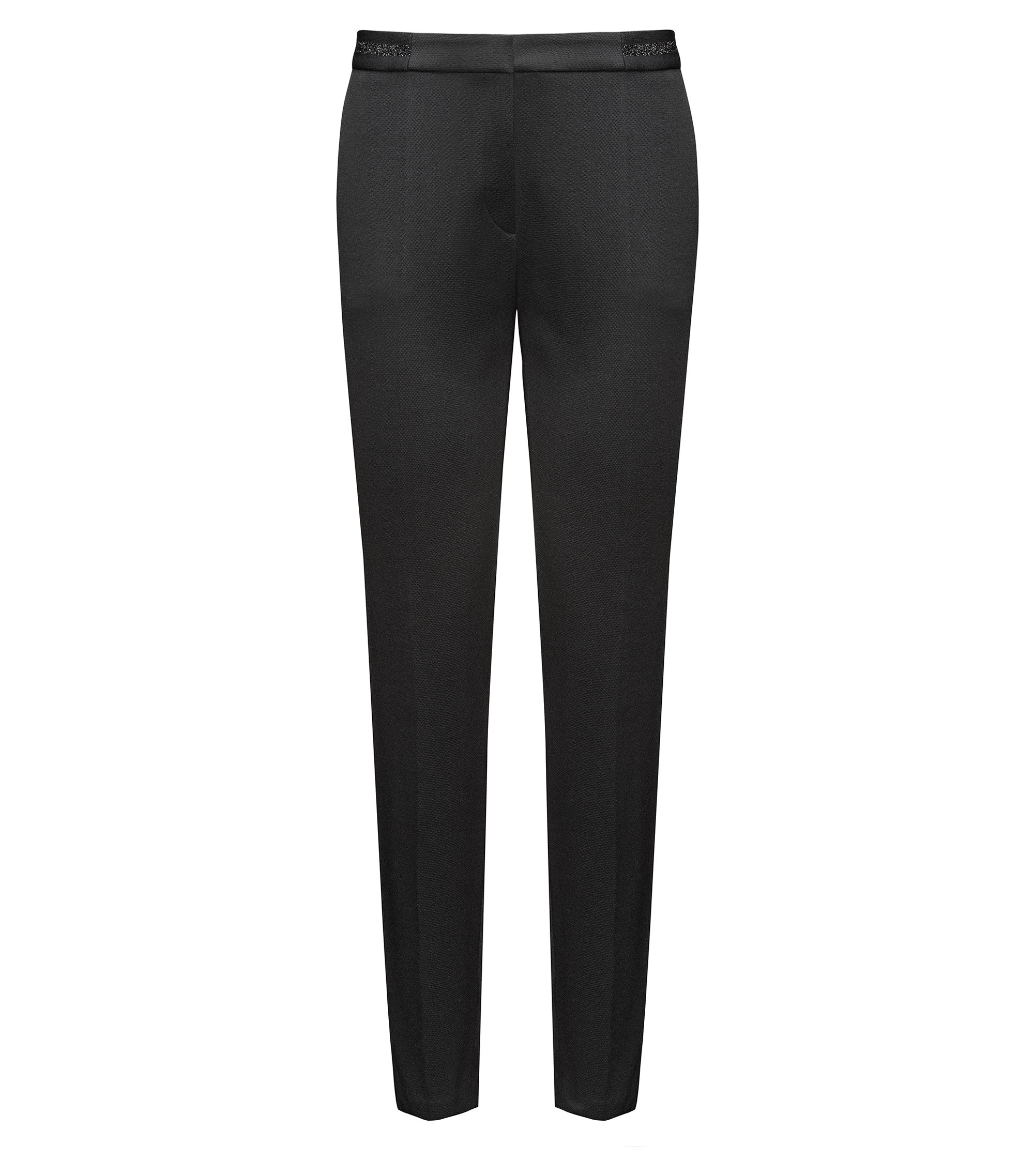 Cotton Blend Pant | Hefena, Black