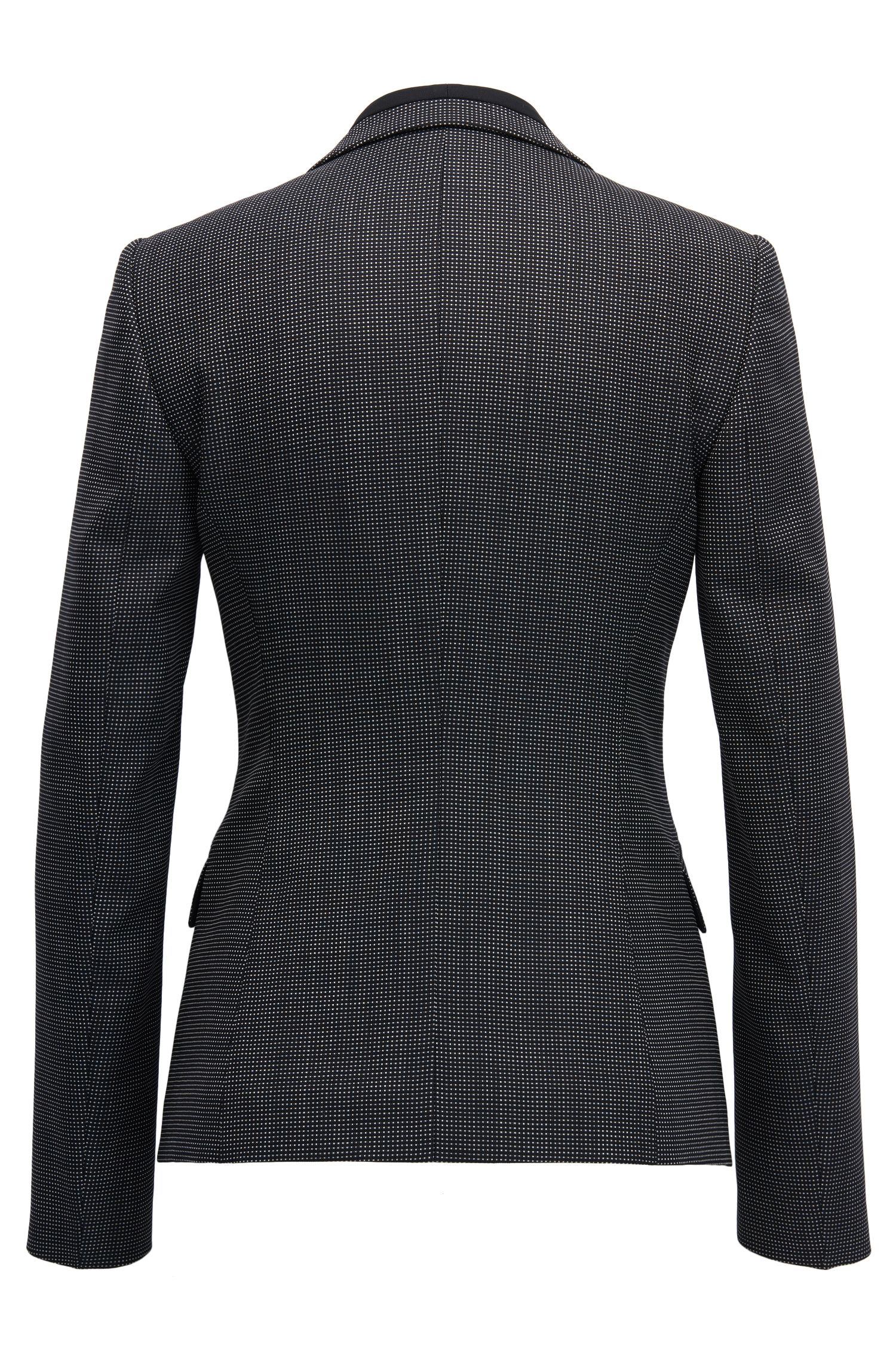 Nailhead Stretch Wool Blazer | Jeresa