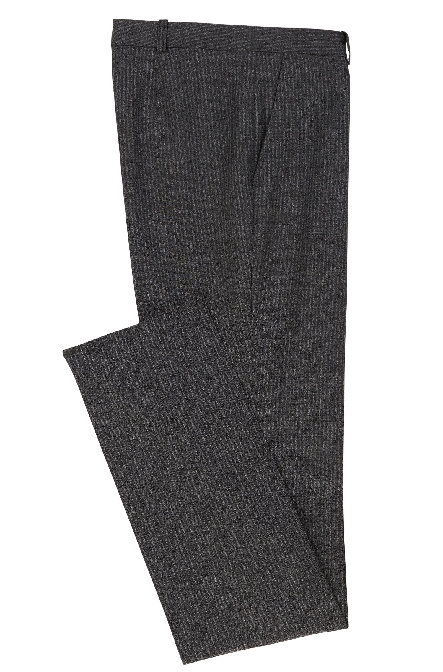 Pinstriped Stretch Virgin Wool Blend Pant | Titana, Patterned