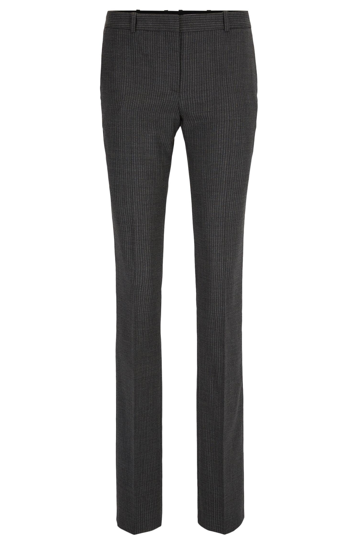 Pinstriped Stretch Virgin Wool Blend Pant | Titana
