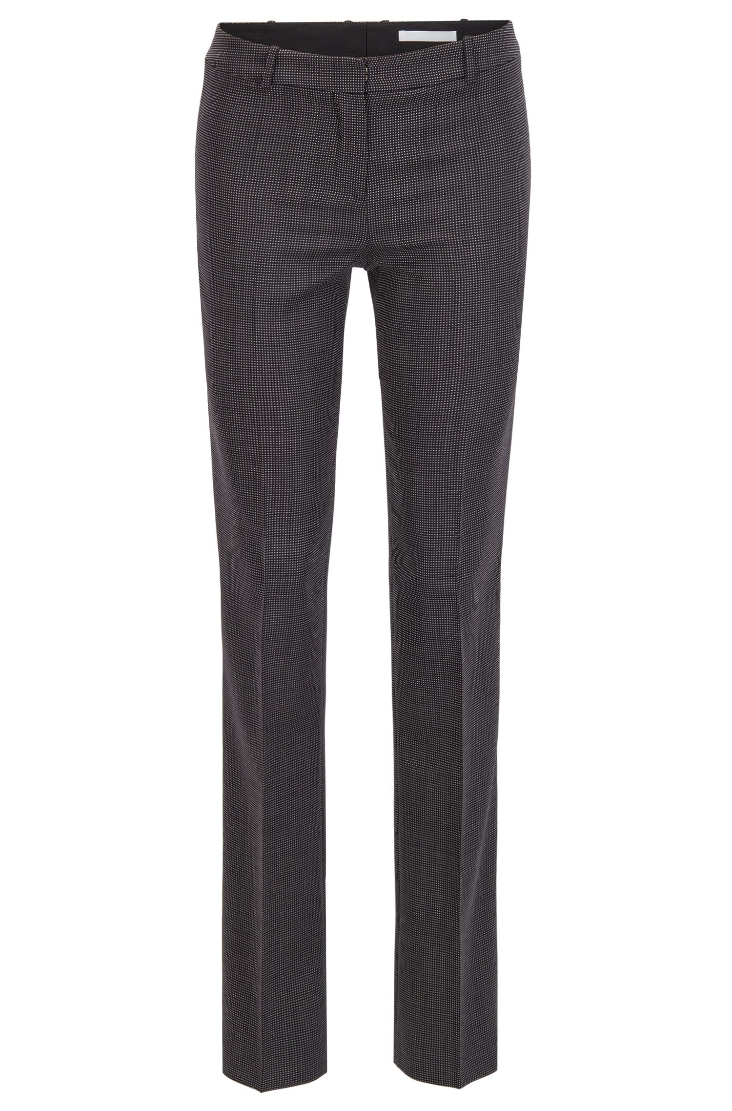 Nailhead Stretch Wool Pant | Tamea