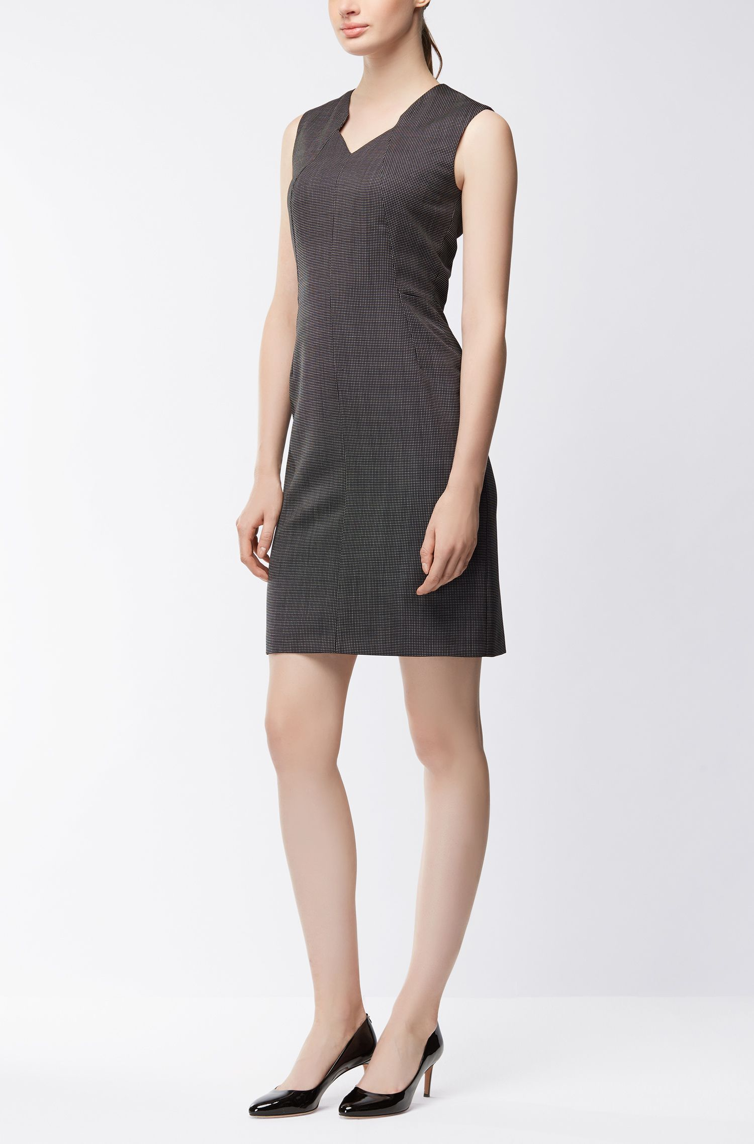 Stretch Wool Sheath Dress | Dokysa