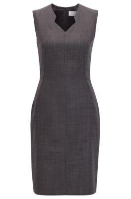 Stretch Wool Sheath Dress | Dokysa, Patterned