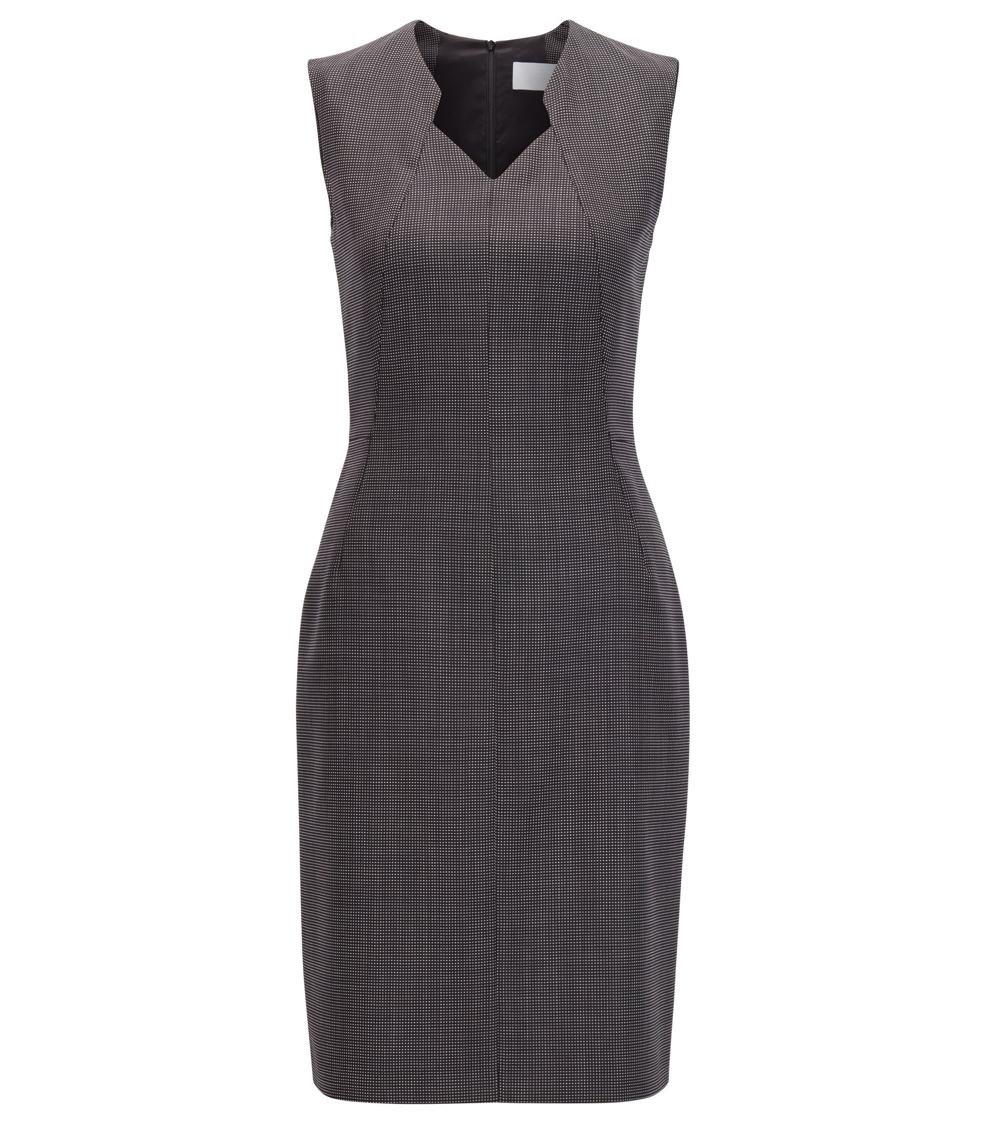 Stretch Wool Sheath Dress | Dokysa, Patterned
