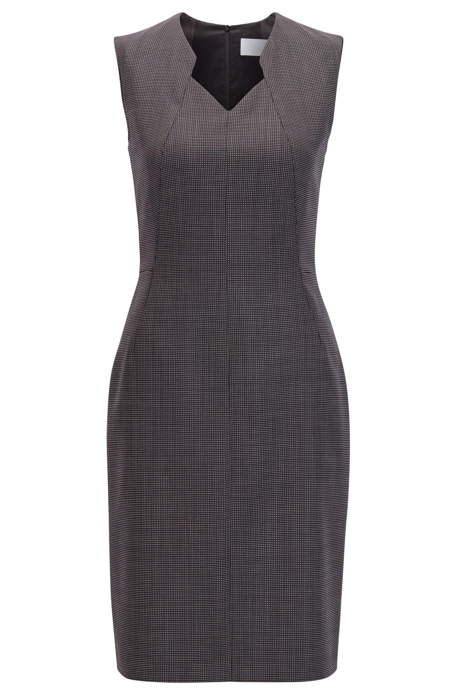 Stretch Wool Sheath Dress | Dokysa