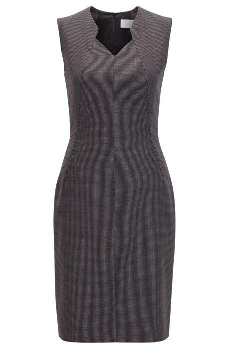 9a437676bd BOSS - Stretch Wool Sheath Dress