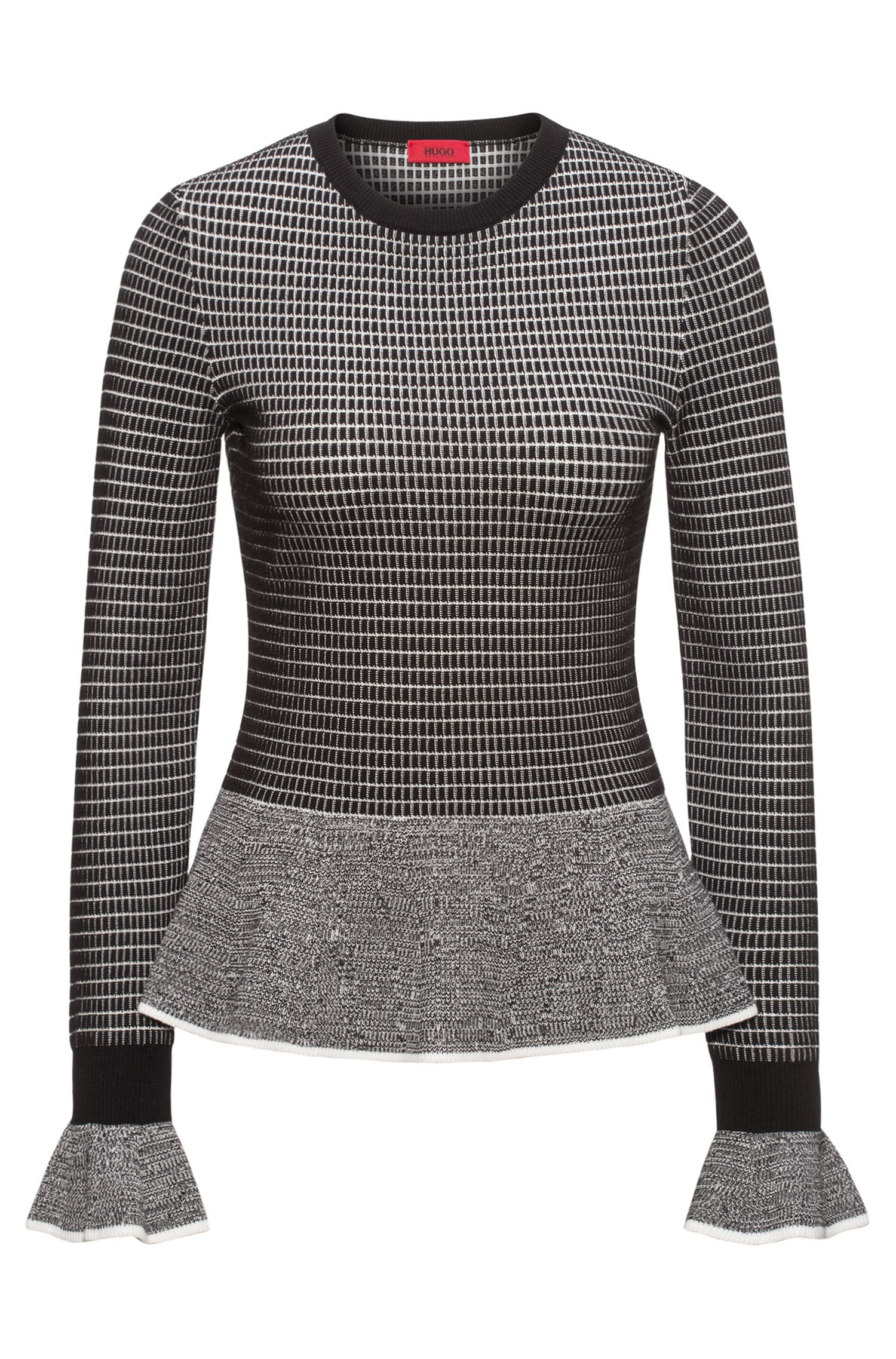 Knit Peplum Sweater | Suminide