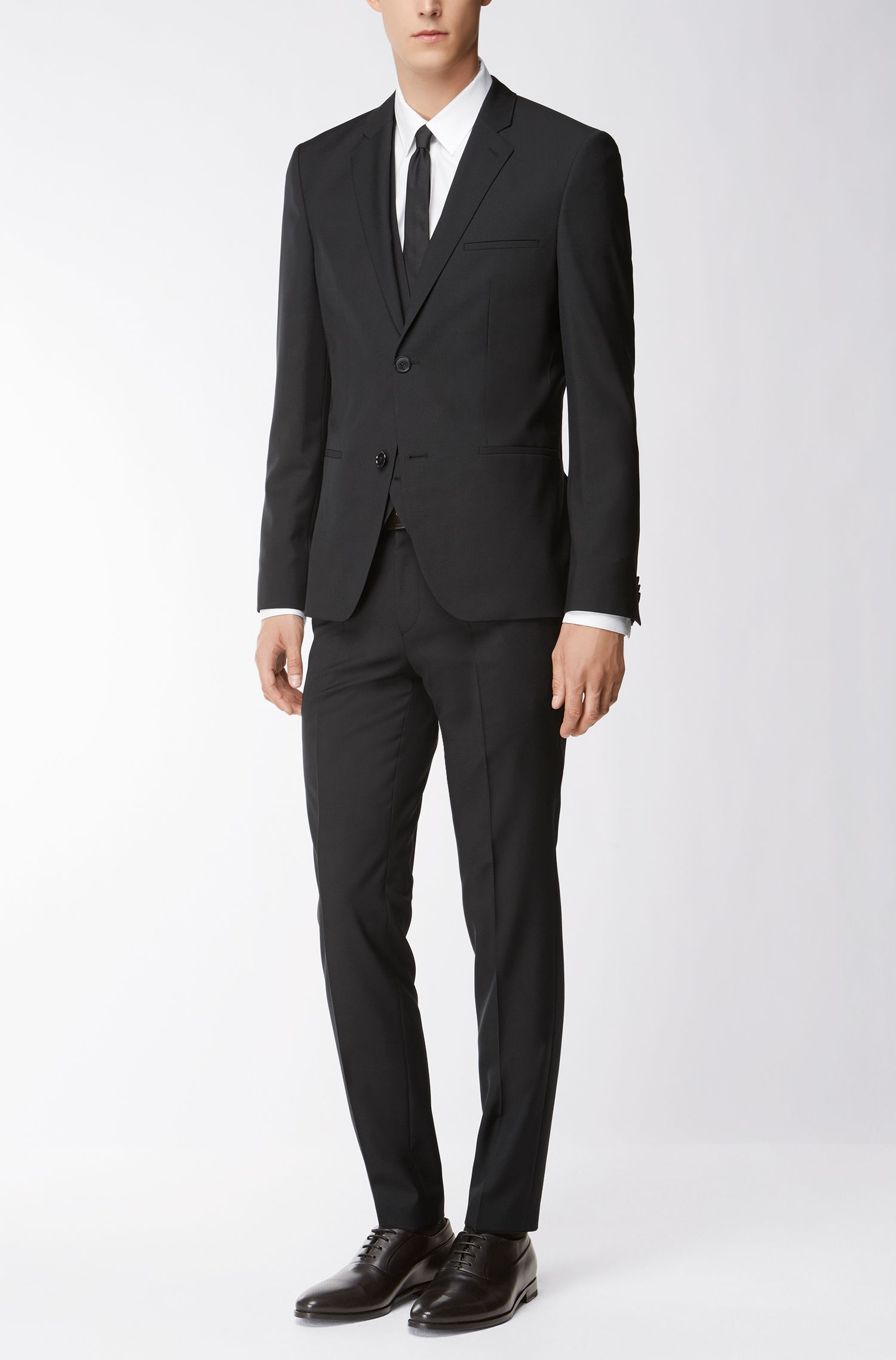 Stretch Virgin Wool Suit, Extra Slim Fit | Arnin/Wilardo/Hermin