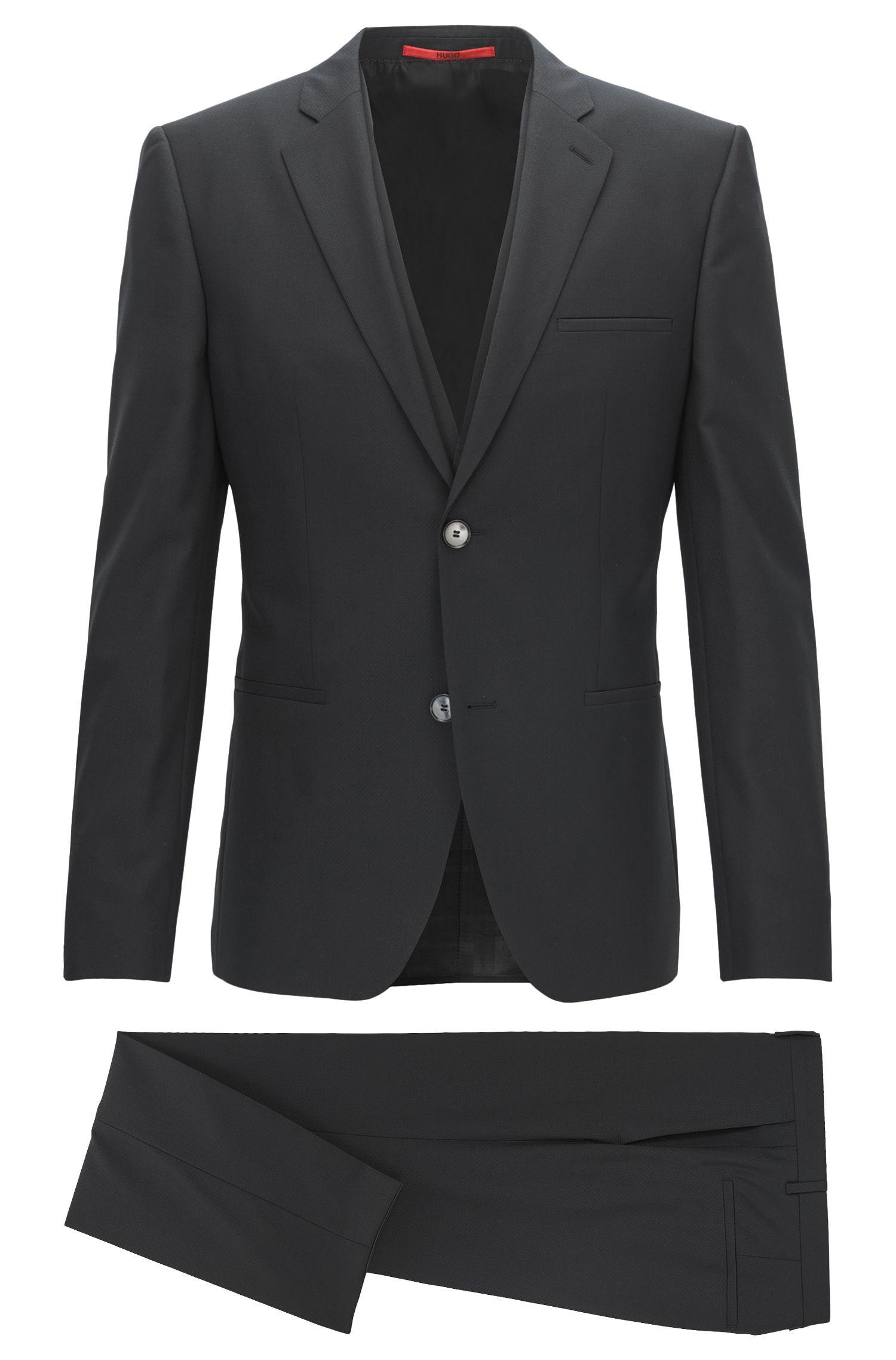 Stretch Virgin Wool Suit, Extra Slim Fit   Arnin/Wilardo/Hermin