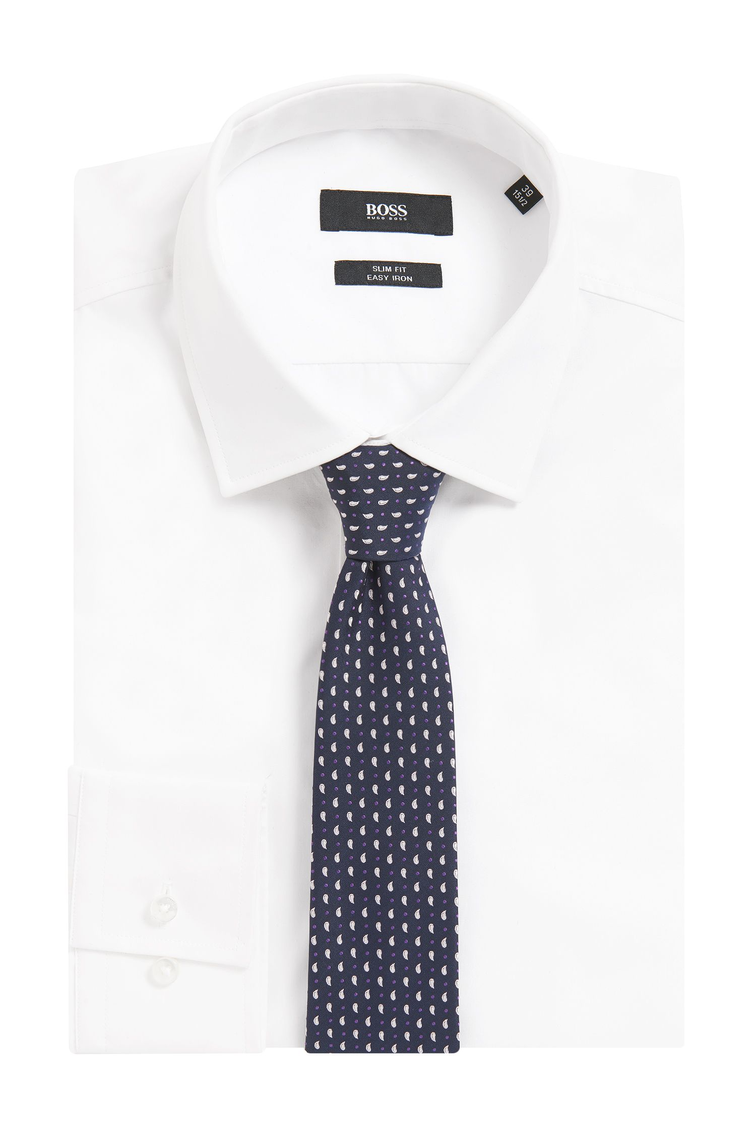 BOSS Traveler Paisley-Dot Italian Silk Slim Tie