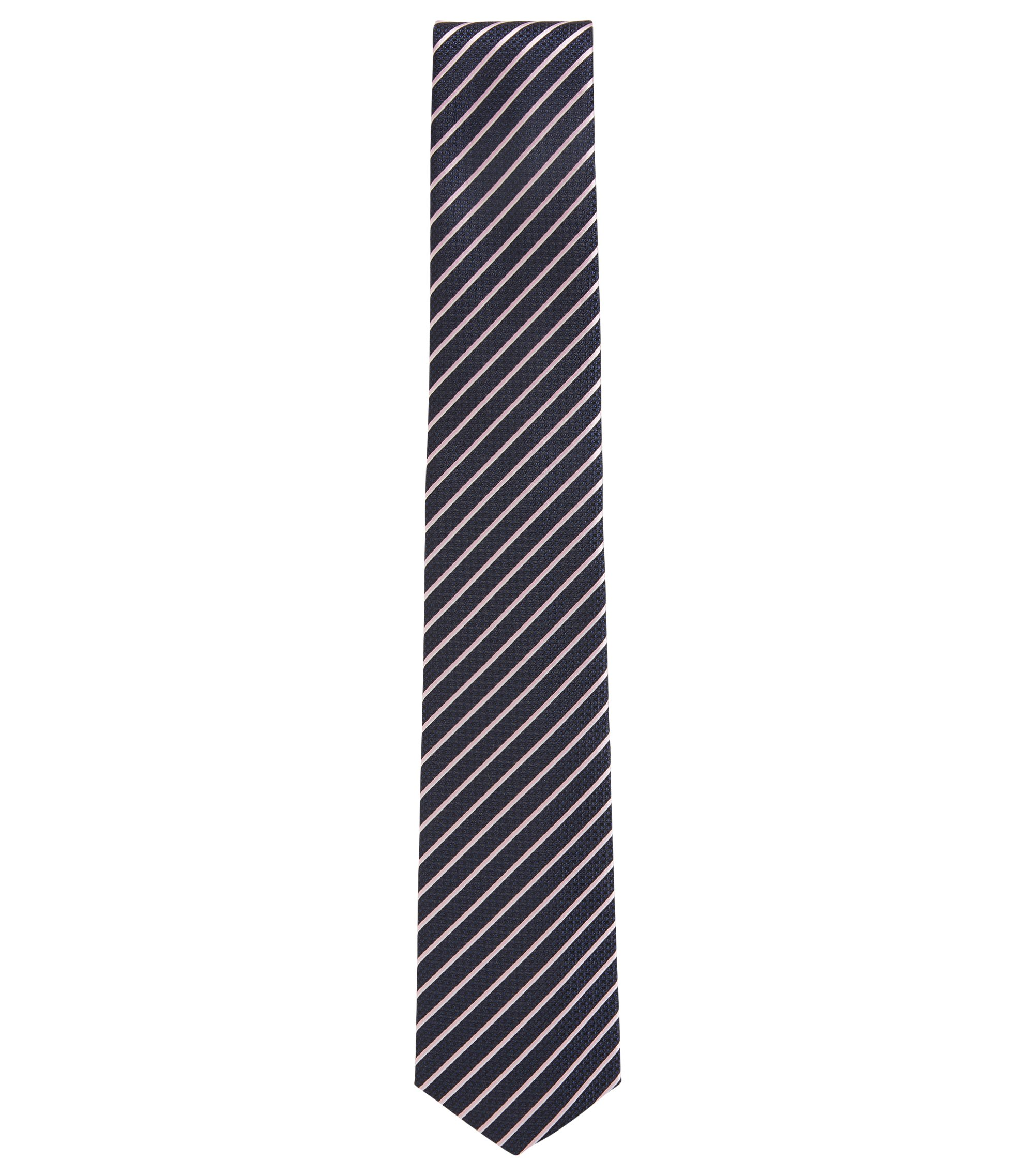 Striped Italian Silk Tie, light pink