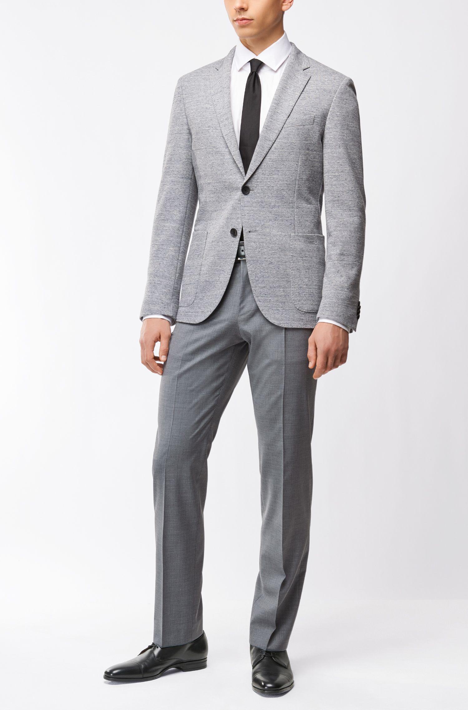 Virgin Wool Cashmere Dress Pant, Regular Fit | Leenon