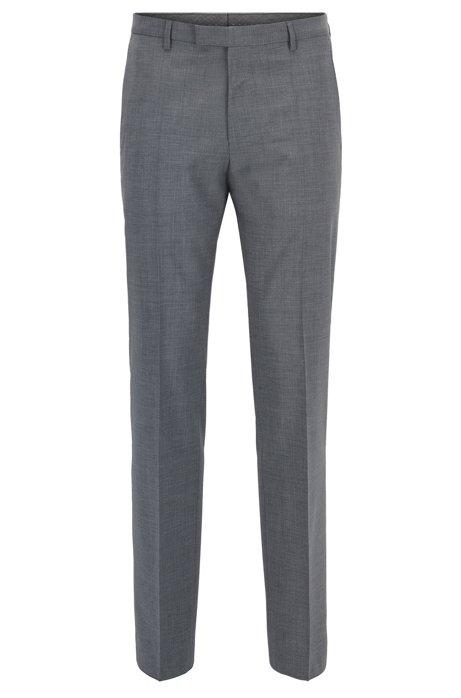 Pantalon Ordinaire Ajustés En Laine Vierge Étirement Hugo Boss F2BqHN0GxR